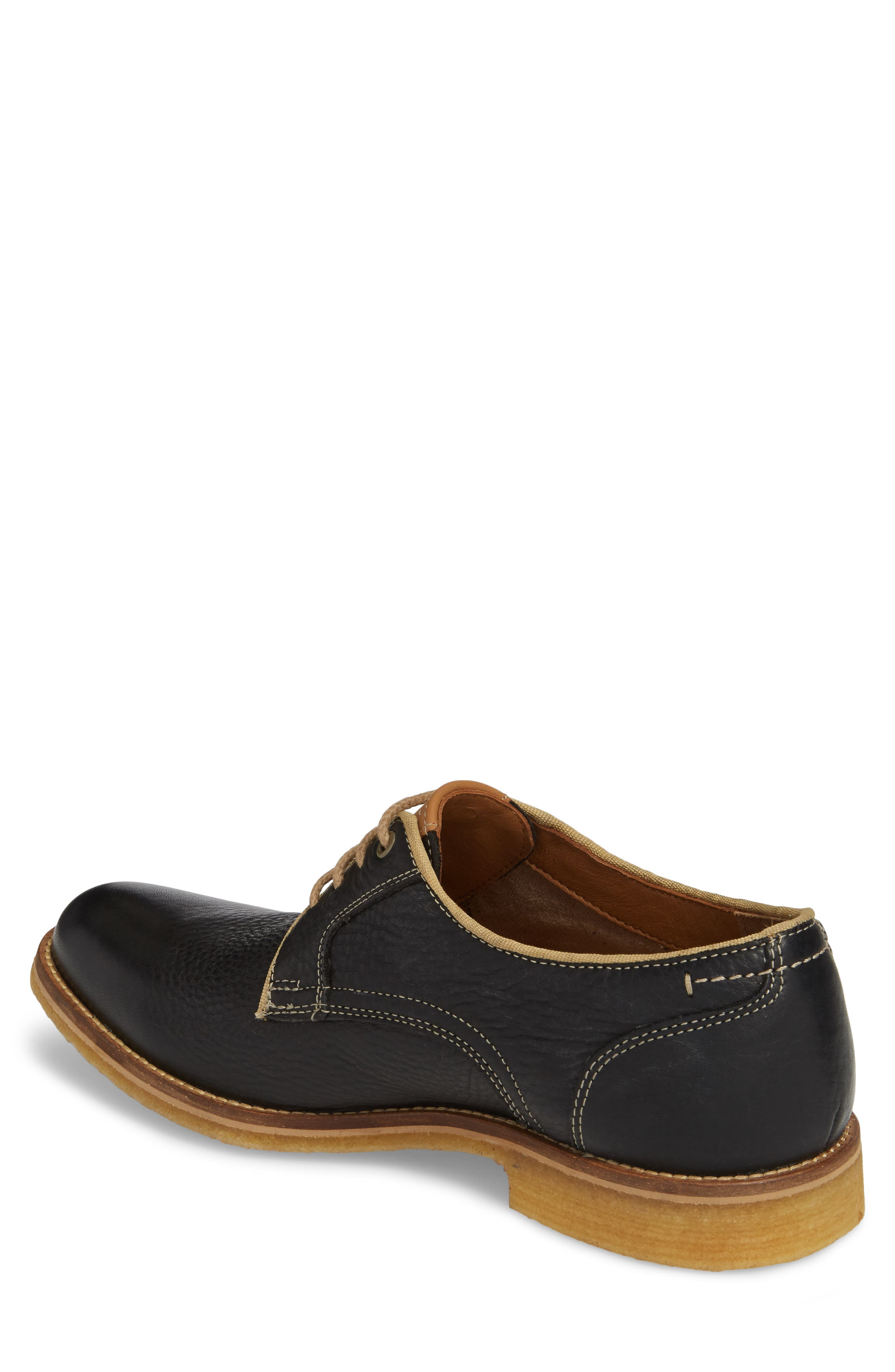 Howell Plain Toe Derby,                             Alternate thumbnail 2, color,                             Black Leather