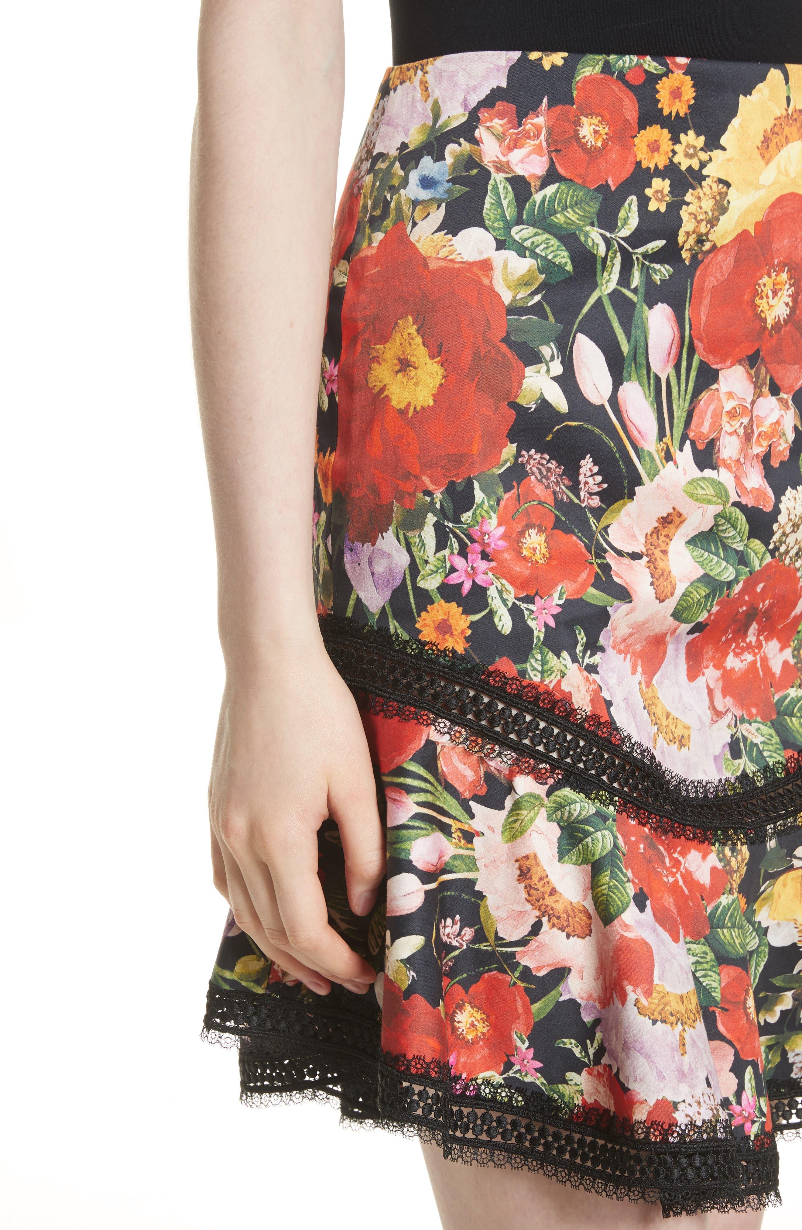 Floral Skirt,                             Alternate thumbnail 4, color,                             Blooming Garden