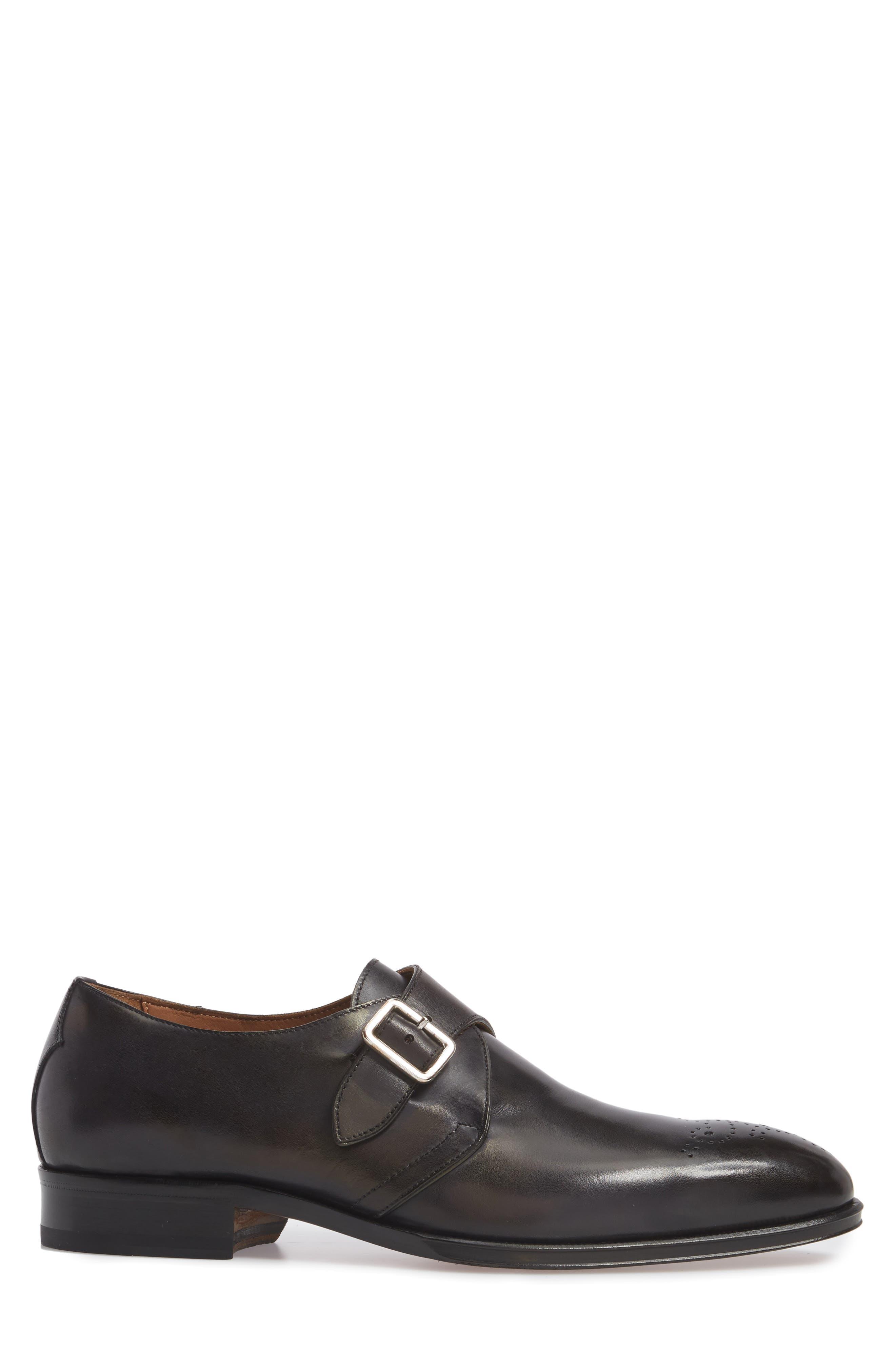 Gallo Bianco Bologna Monk Strap Shoe,                             Alternate thumbnail 3, color,                             Anthracite