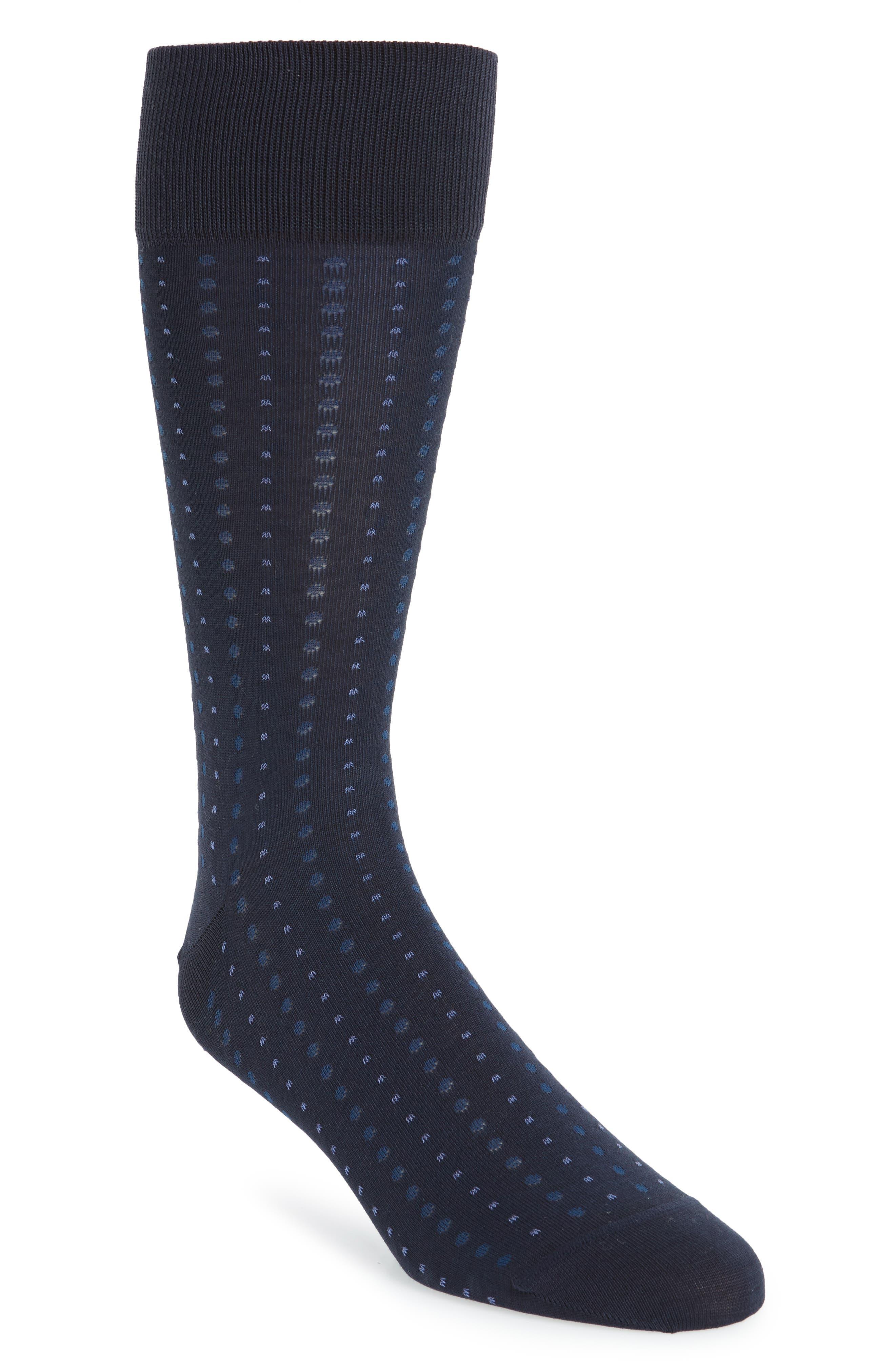 Mini Dot Socks,                         Main,                         color, Navy/ Blue