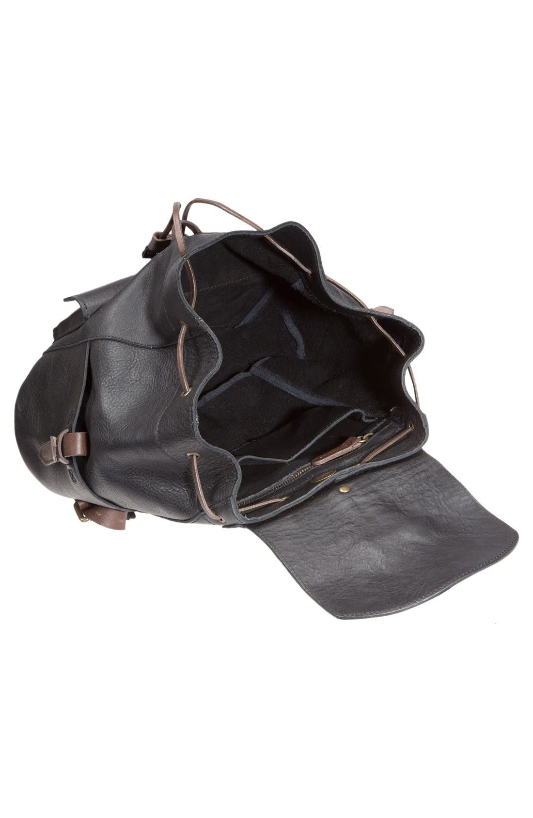 Alternate Image 3  - Will Leather Goods 'Rainier' Leather Backpack