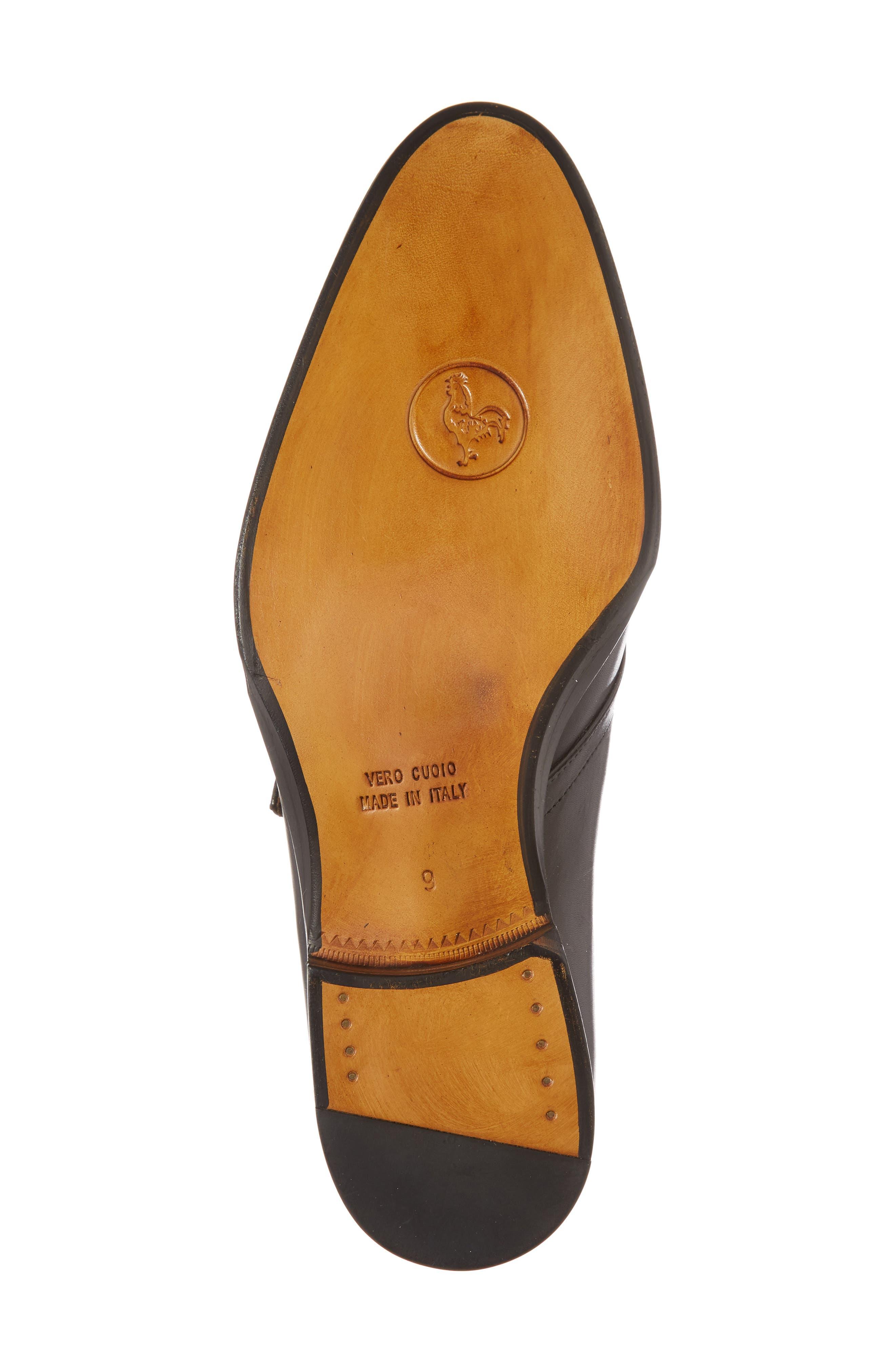 Gallo Bianco Bologna Monk Strap Shoe,                             Alternate thumbnail 6, color,                             Anthracite