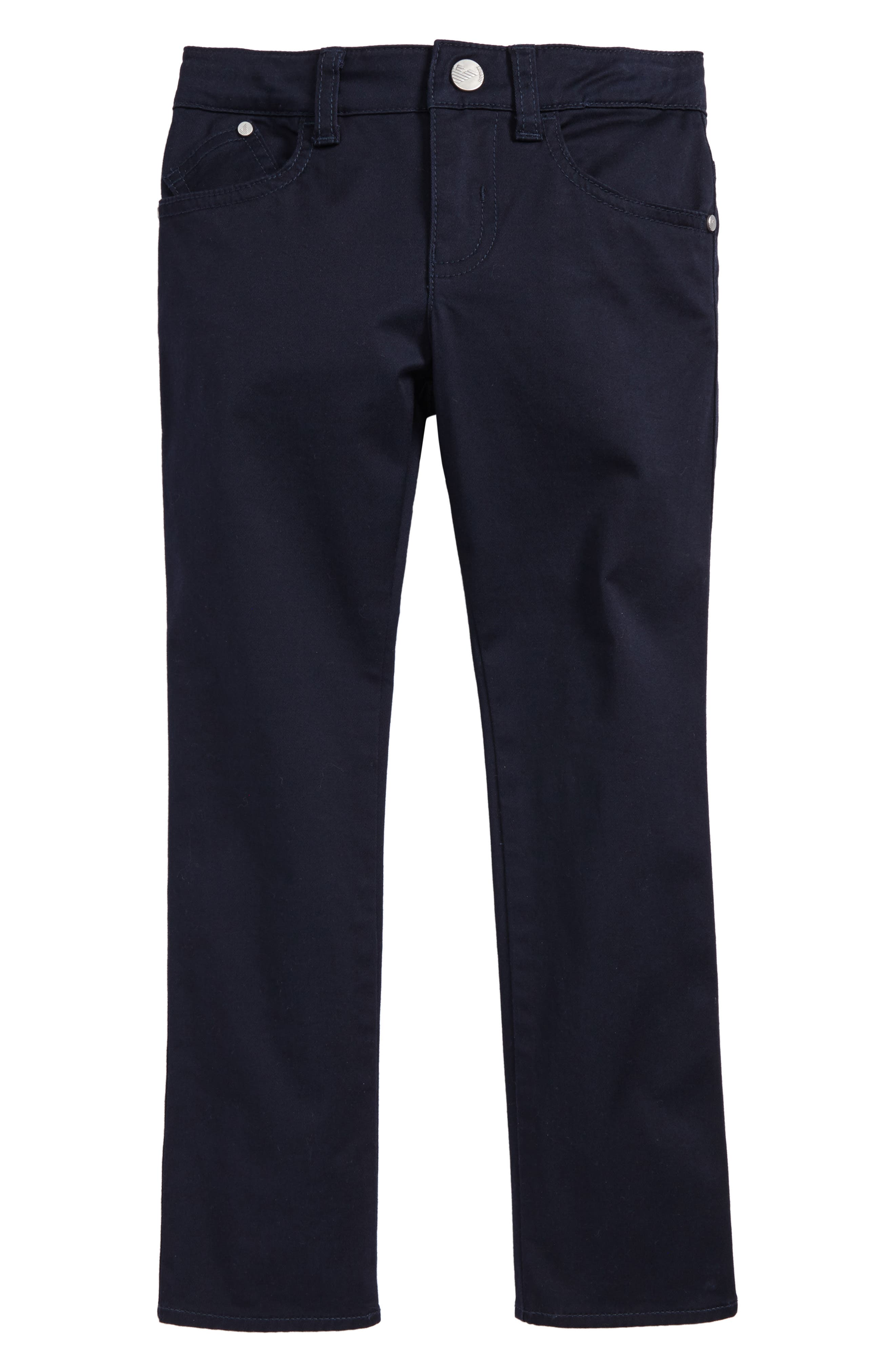 Armani Junior Stretch Cotton Twill Pants (Little Boys & Big Boys)