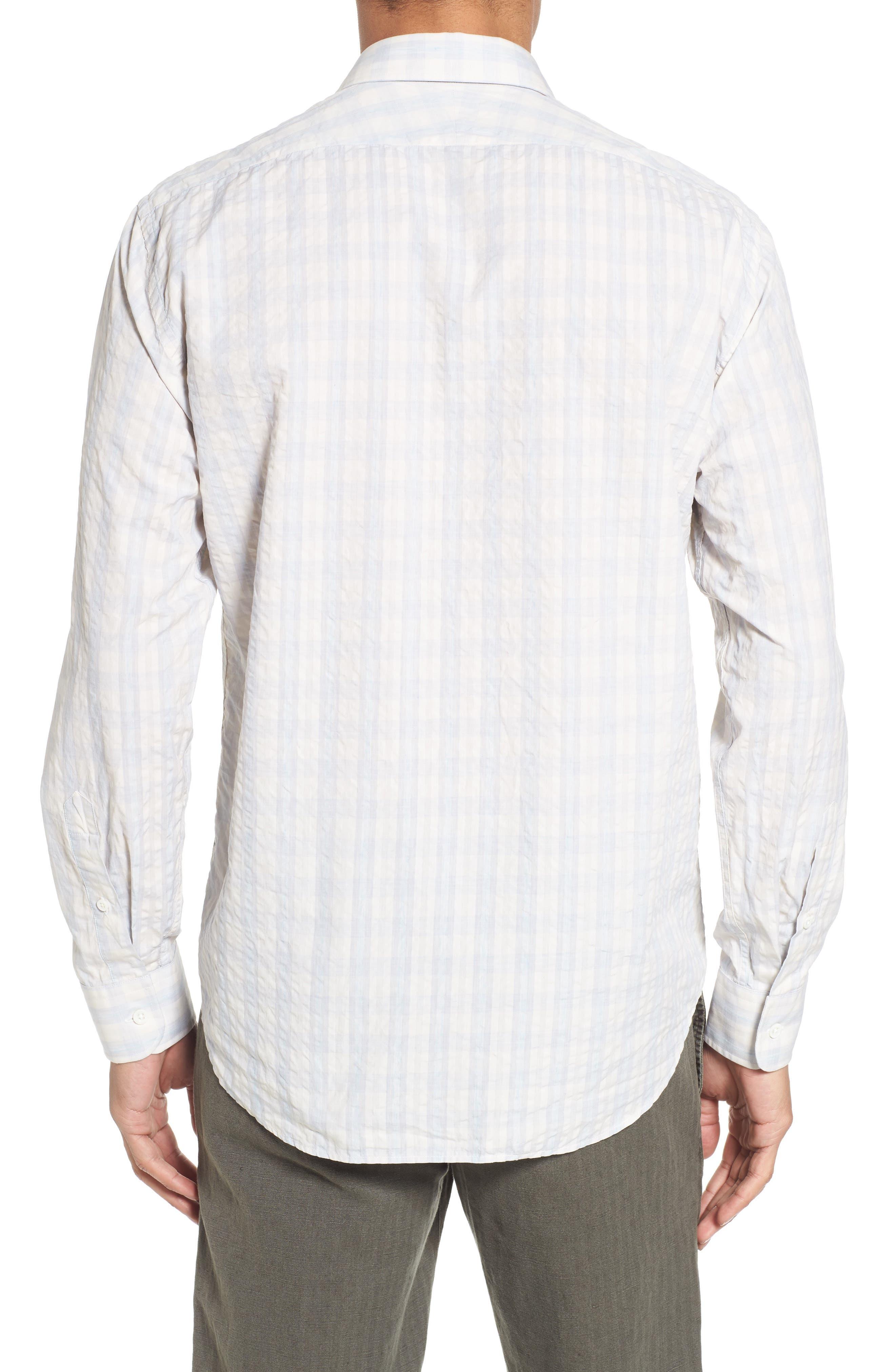 Aubergine Stripe Sport Shirt,                             Alternate thumbnail 2, color,                             White