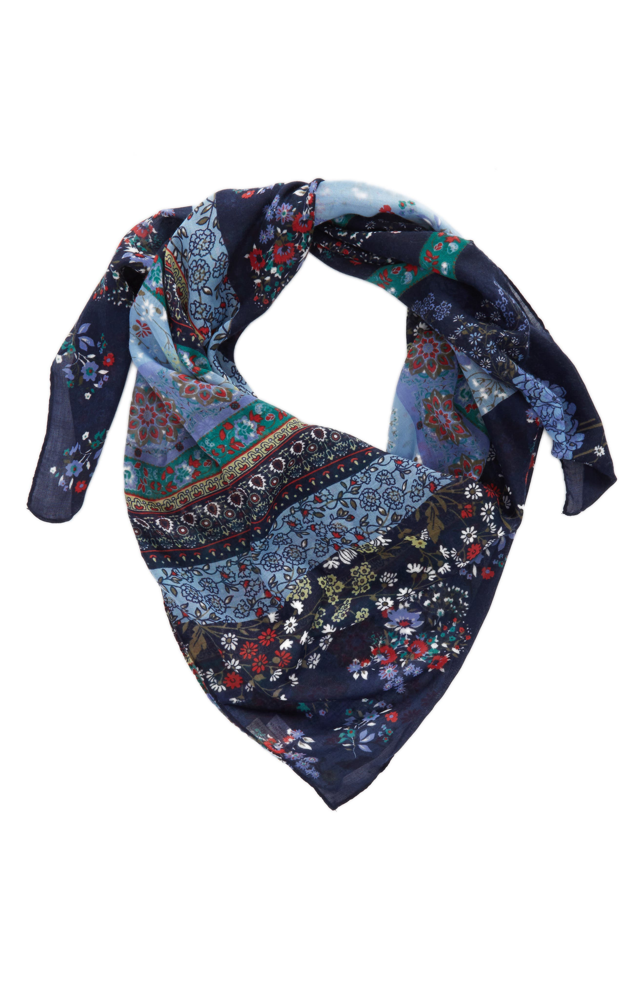 Alternate Image 2  - Collection XIIX Ditsy Floral Patchwork Scarf