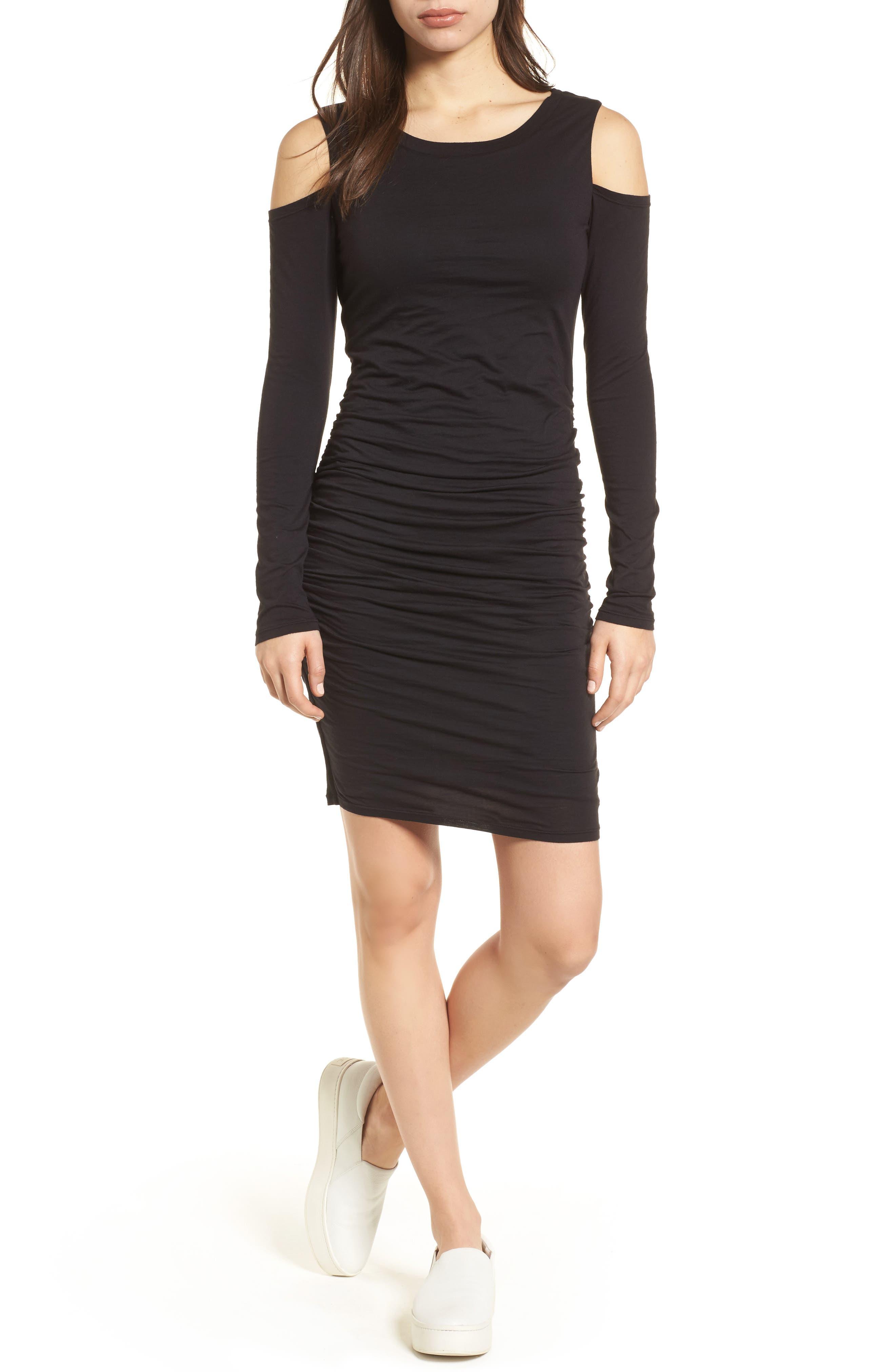 Main Image - Velvet by Graham & Spencer Gauzy Whisper Cold Shoulder Dress