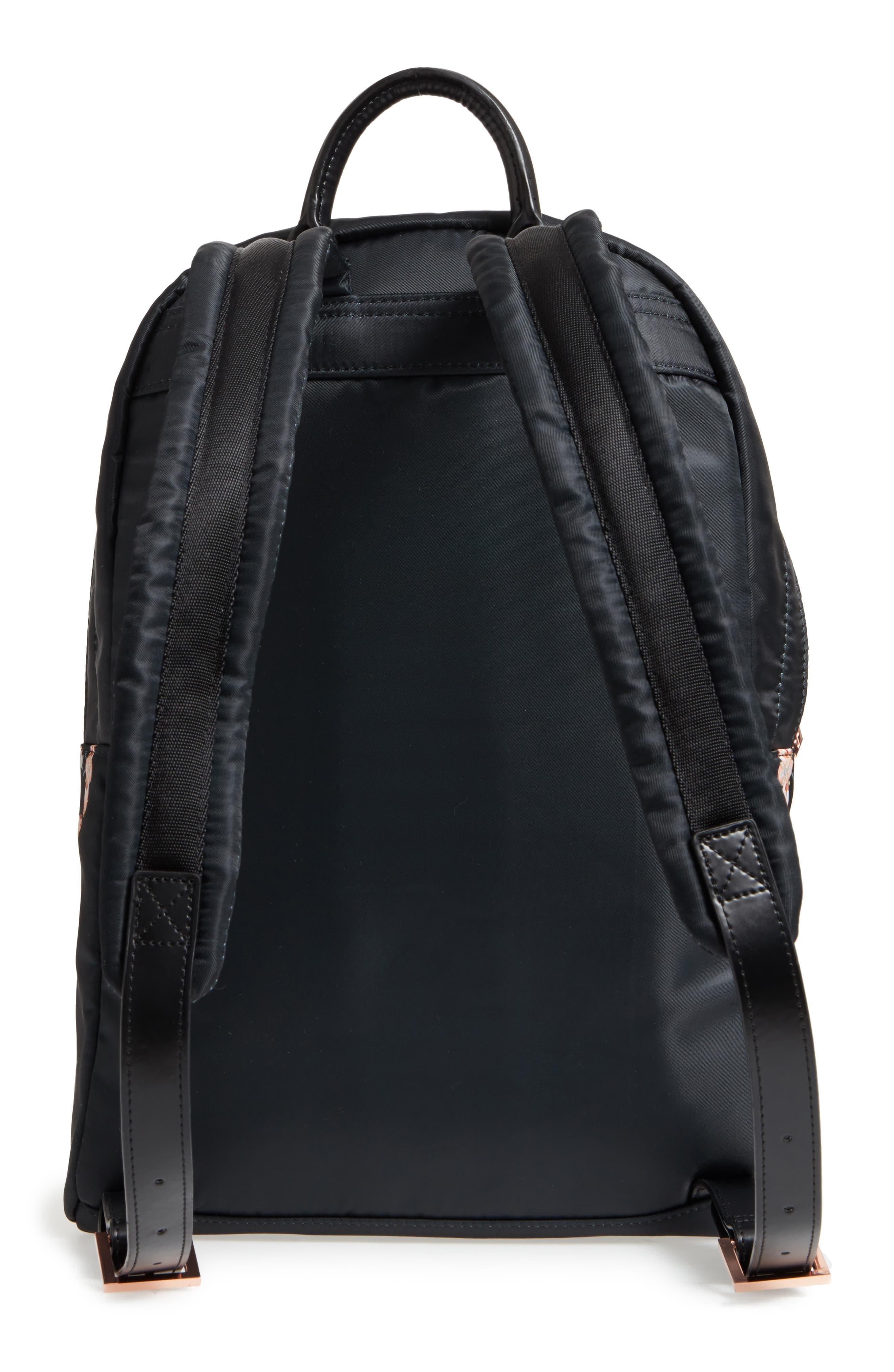 Eartha Print Backpack,                             Alternate thumbnail 3, color,                             Black