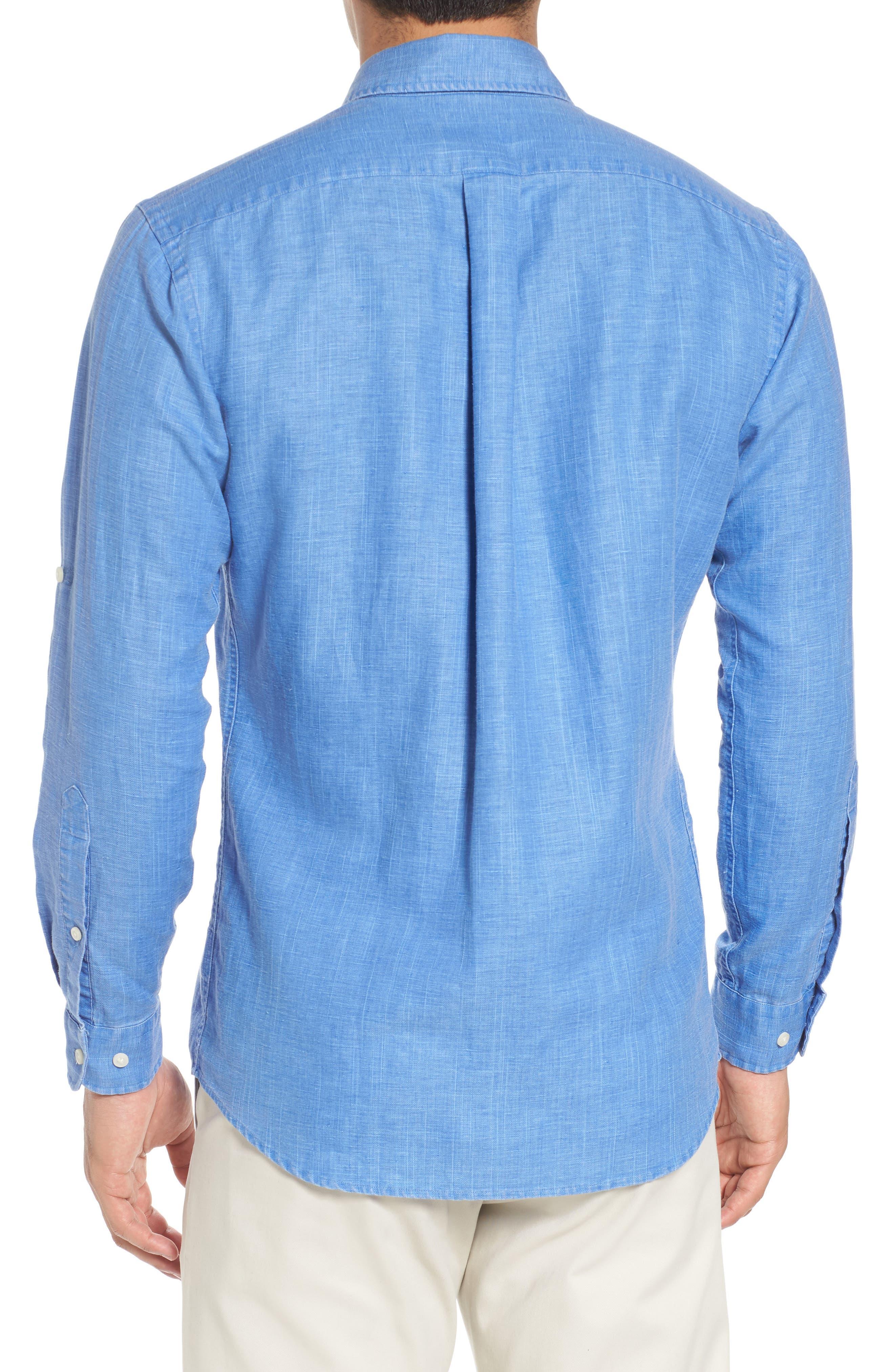 Alternate Image 2  - Peter Millar Harkers Regular Fit Herringbone Sport Shirt