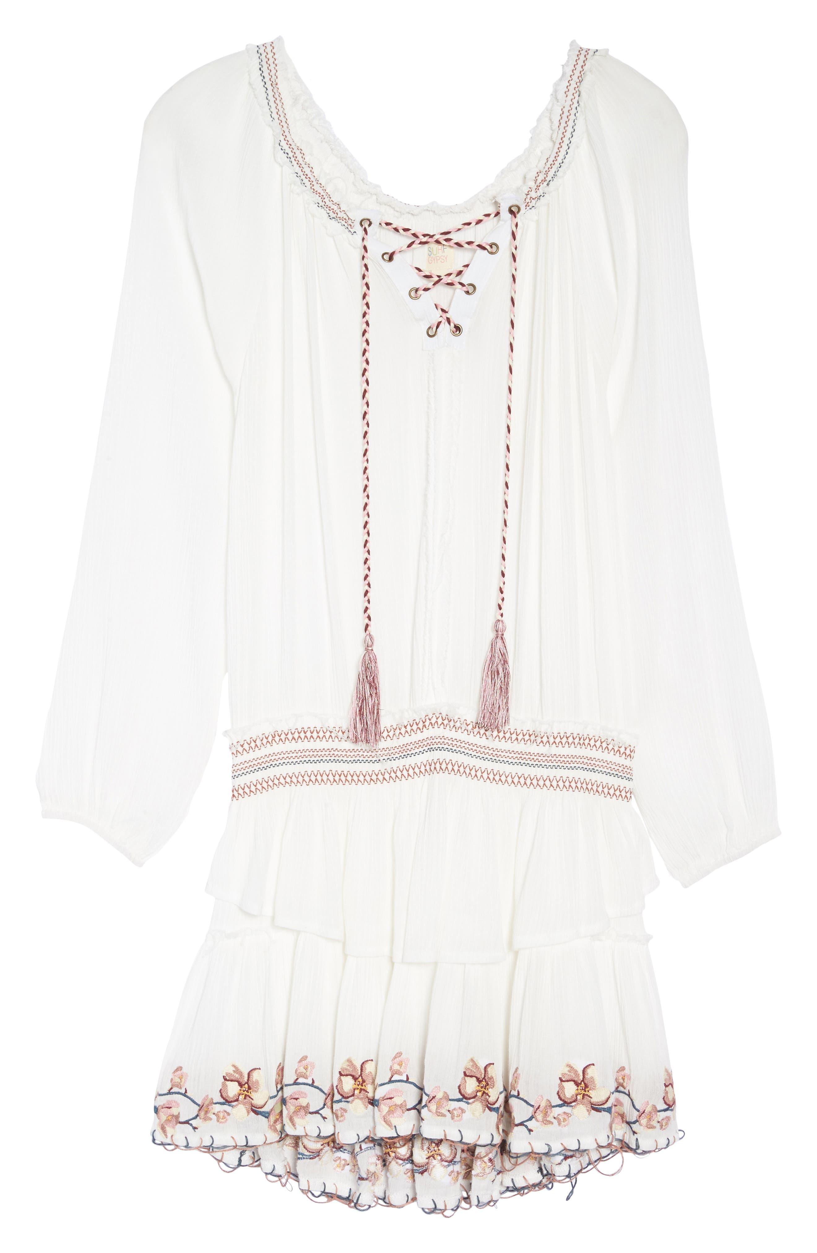 Cover-Up Dress,                             Alternate thumbnail 6, color,                             White