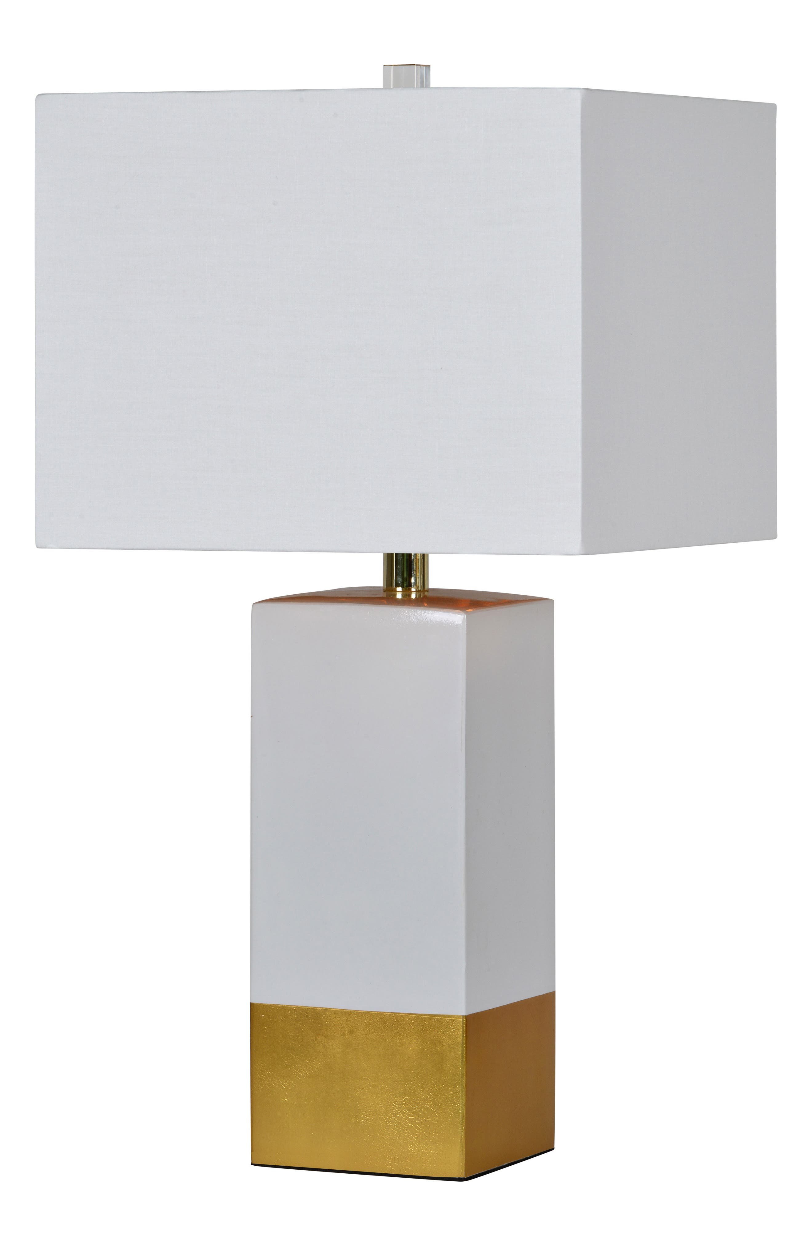 Le Smoking Table Lamp,                             Alternate thumbnail 2, color,                             White/ Gold