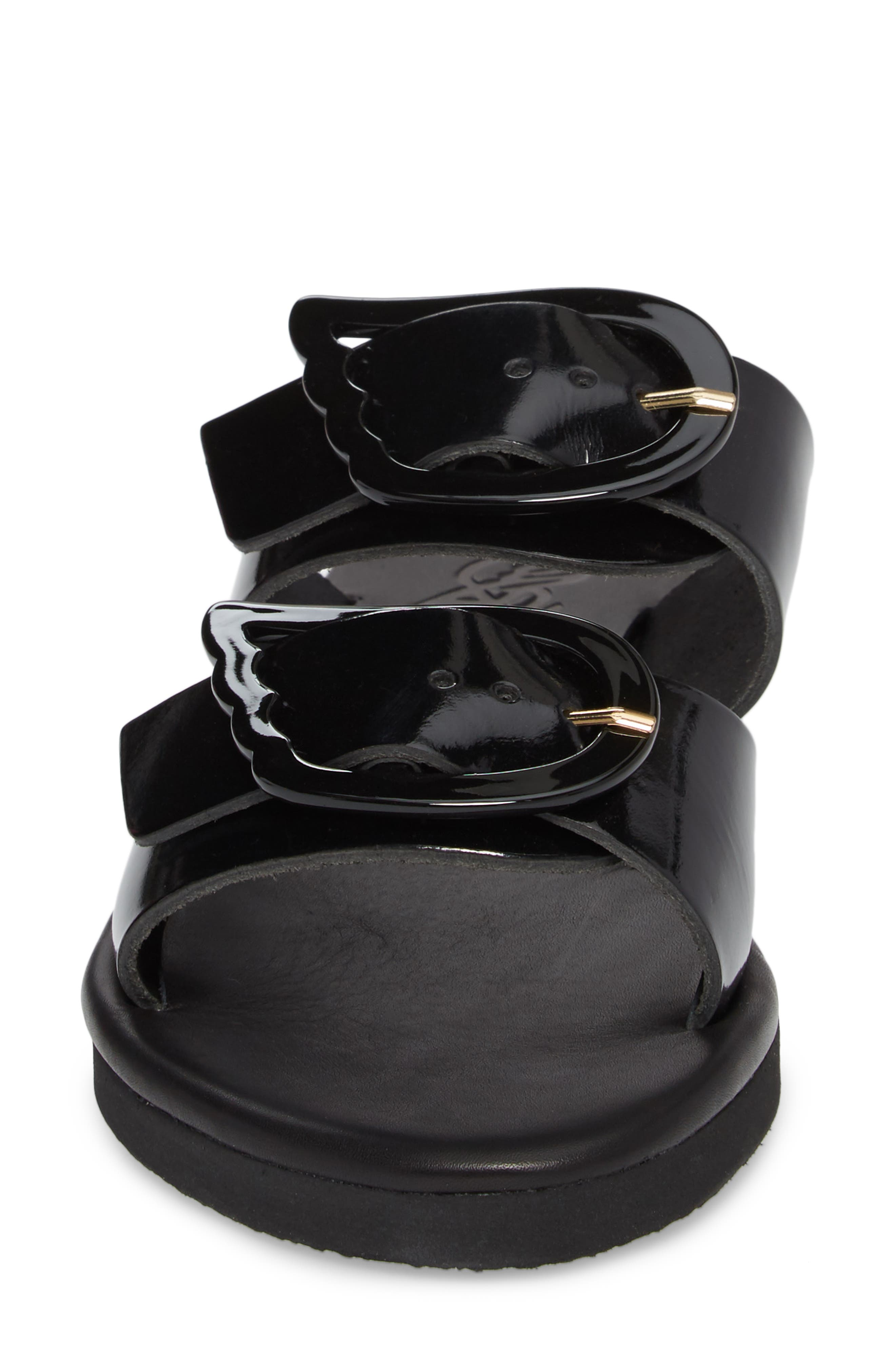 Iaso Slide Sandal,                             Alternate thumbnail 4, color,                             Black
