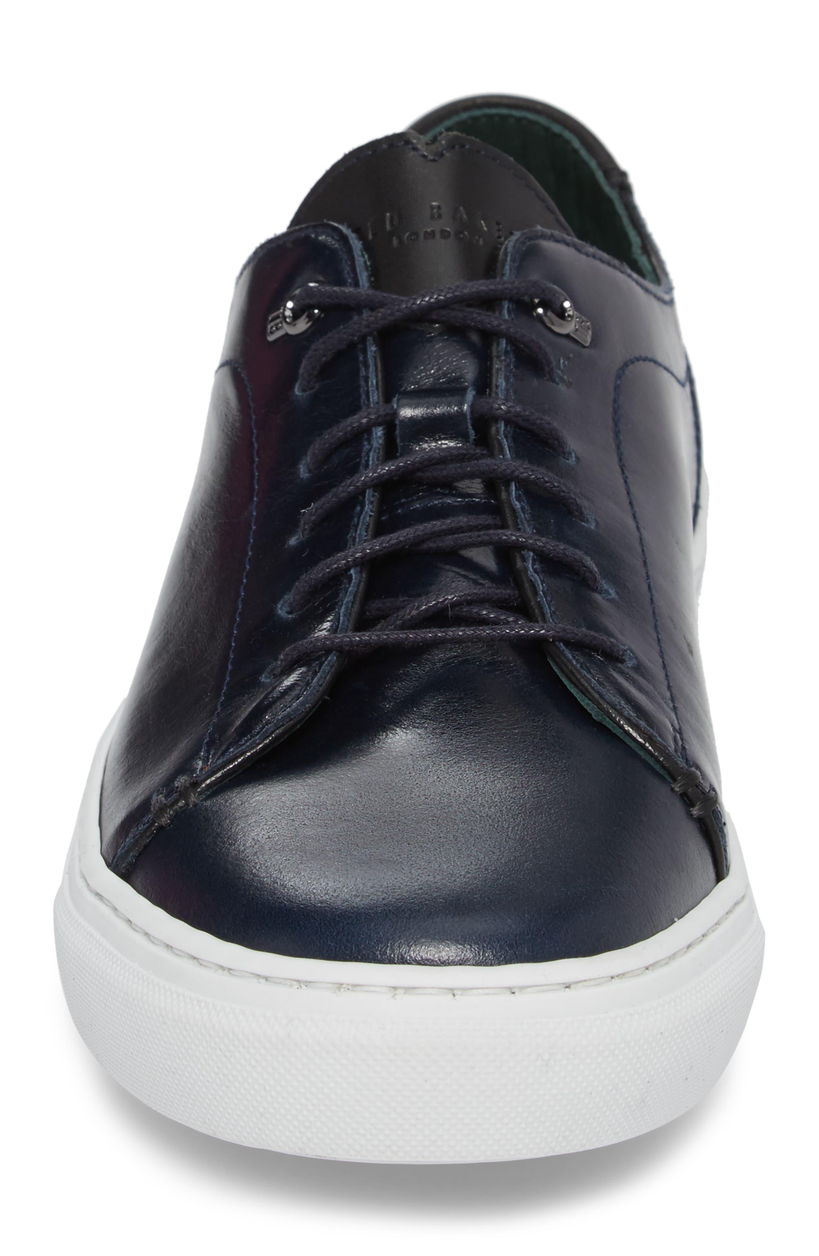 Duuke 2 Sneaker,                             Alternate thumbnail 4, color,                             Midnight Blue Leather