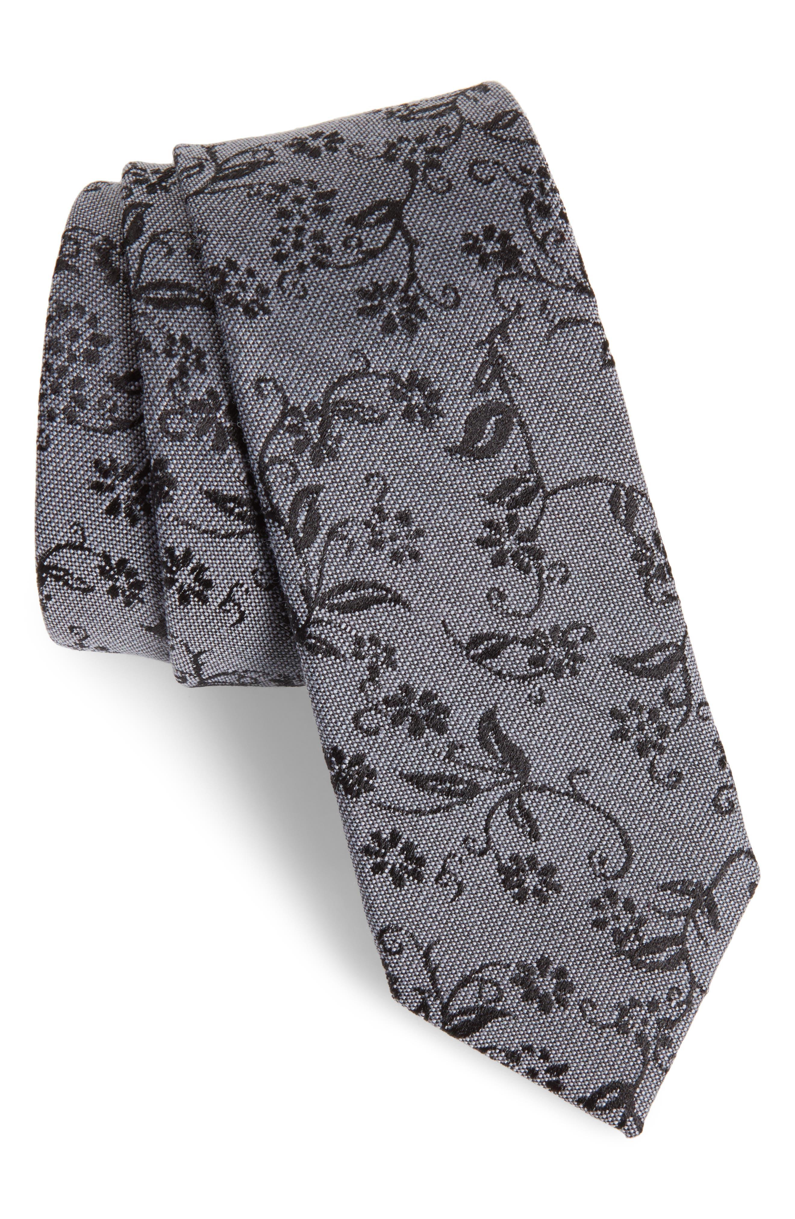 Main Image - Nordstrom Men's Shop Emerson Floral Wool & Silk Tie