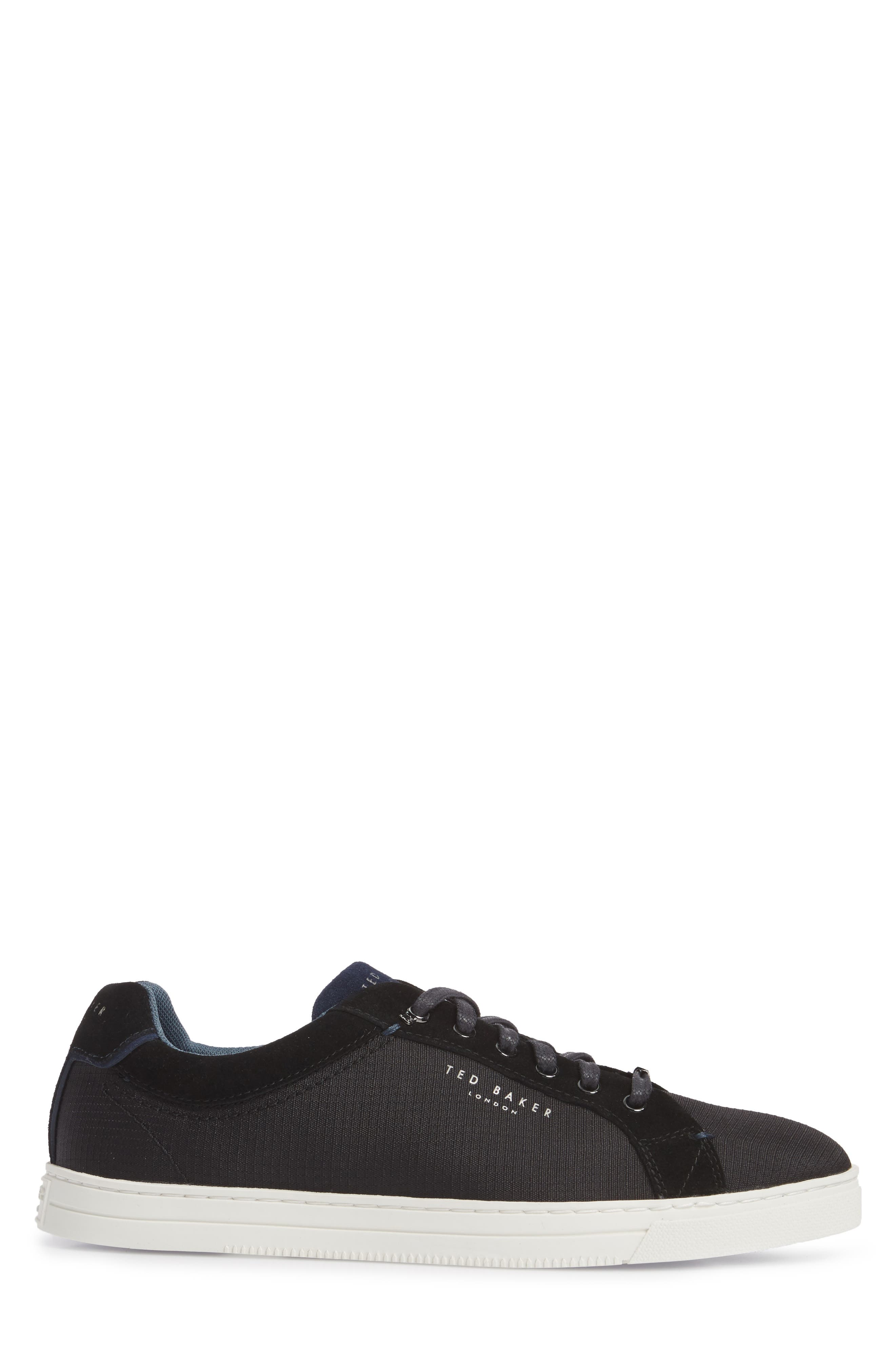 Klemes Sneaker,                             Alternate thumbnail 3, color,                             Black Textile