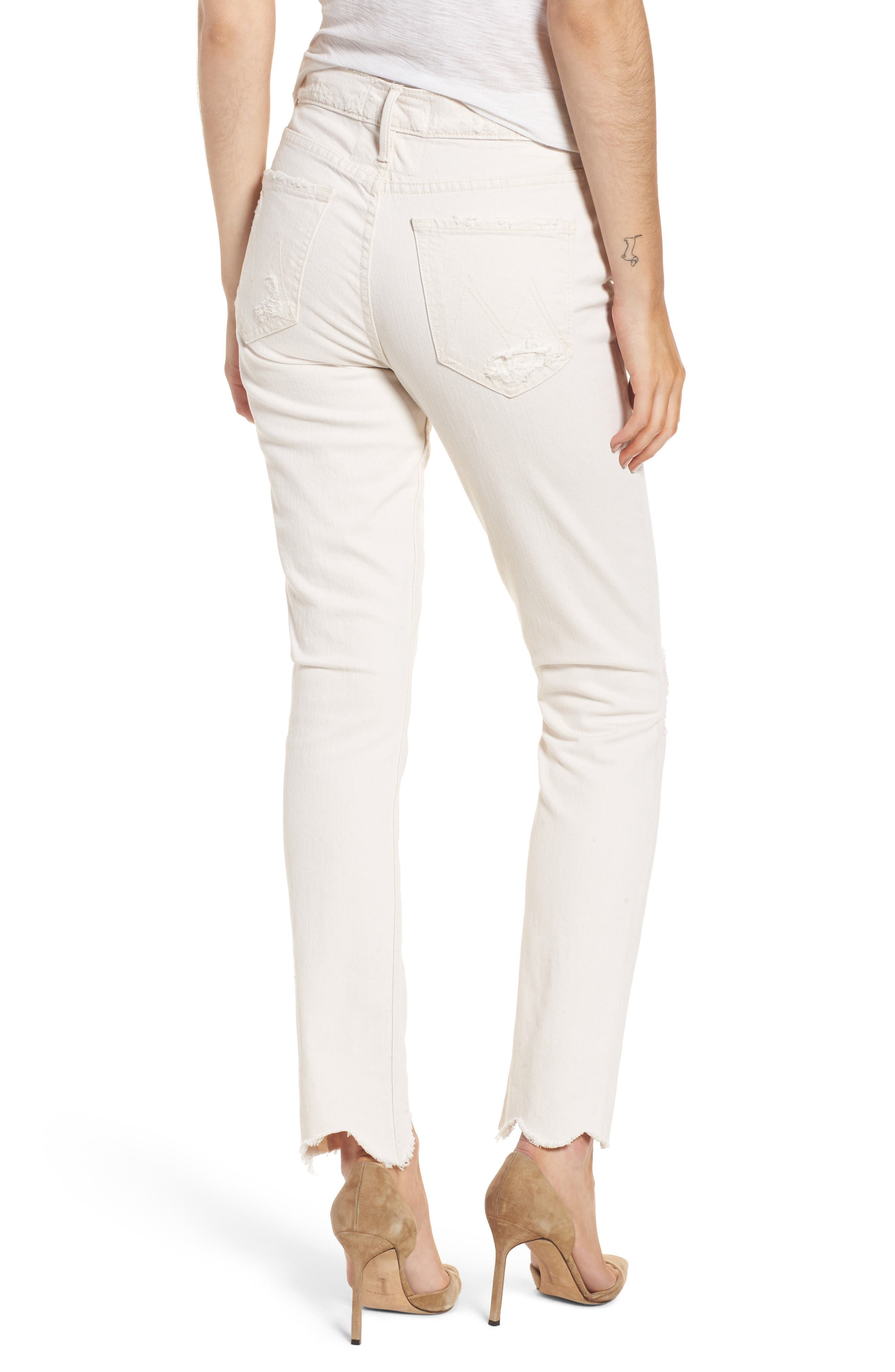 Alternate Image 2  - MOTHER The Flirt Chew Ankle Straight Leg Jeans (Unnatural Acts)
