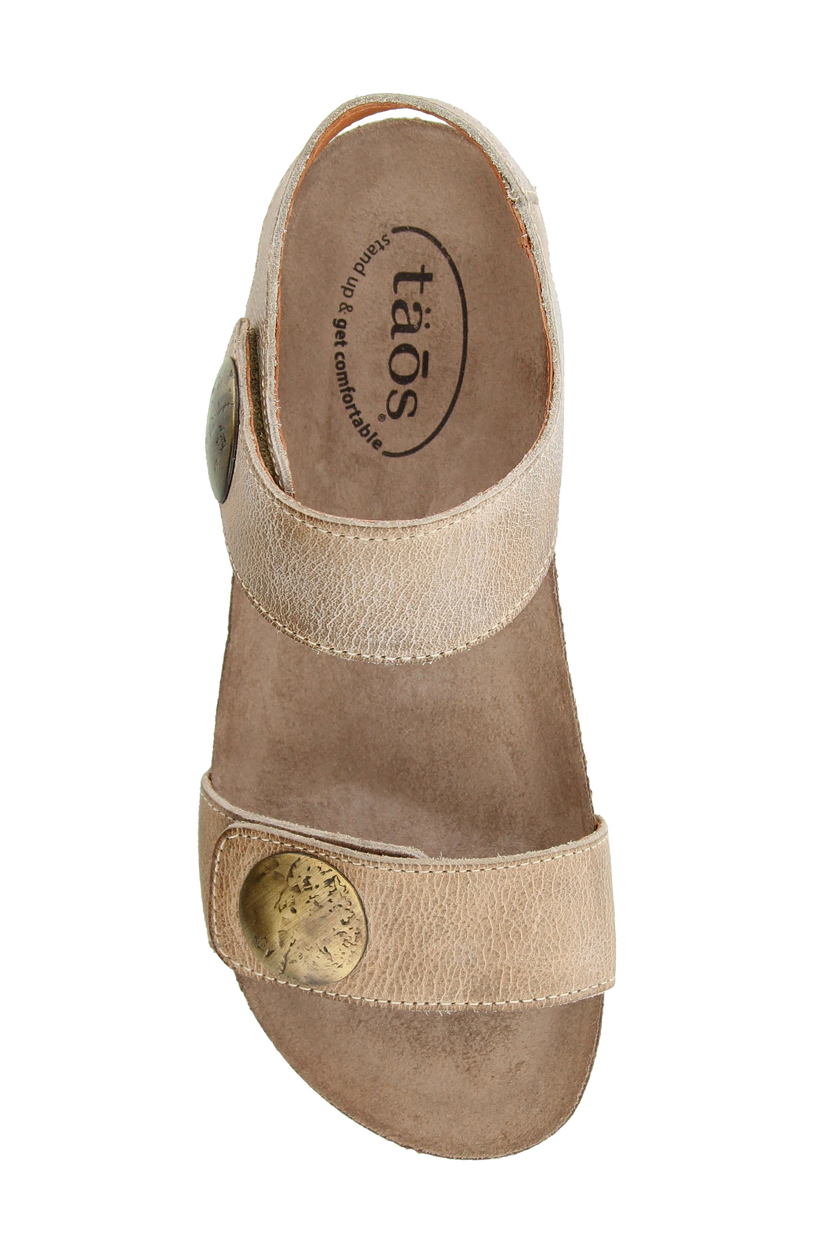 Luckie Sandal,                             Alternate thumbnail 4, color,                             Taupe Leather