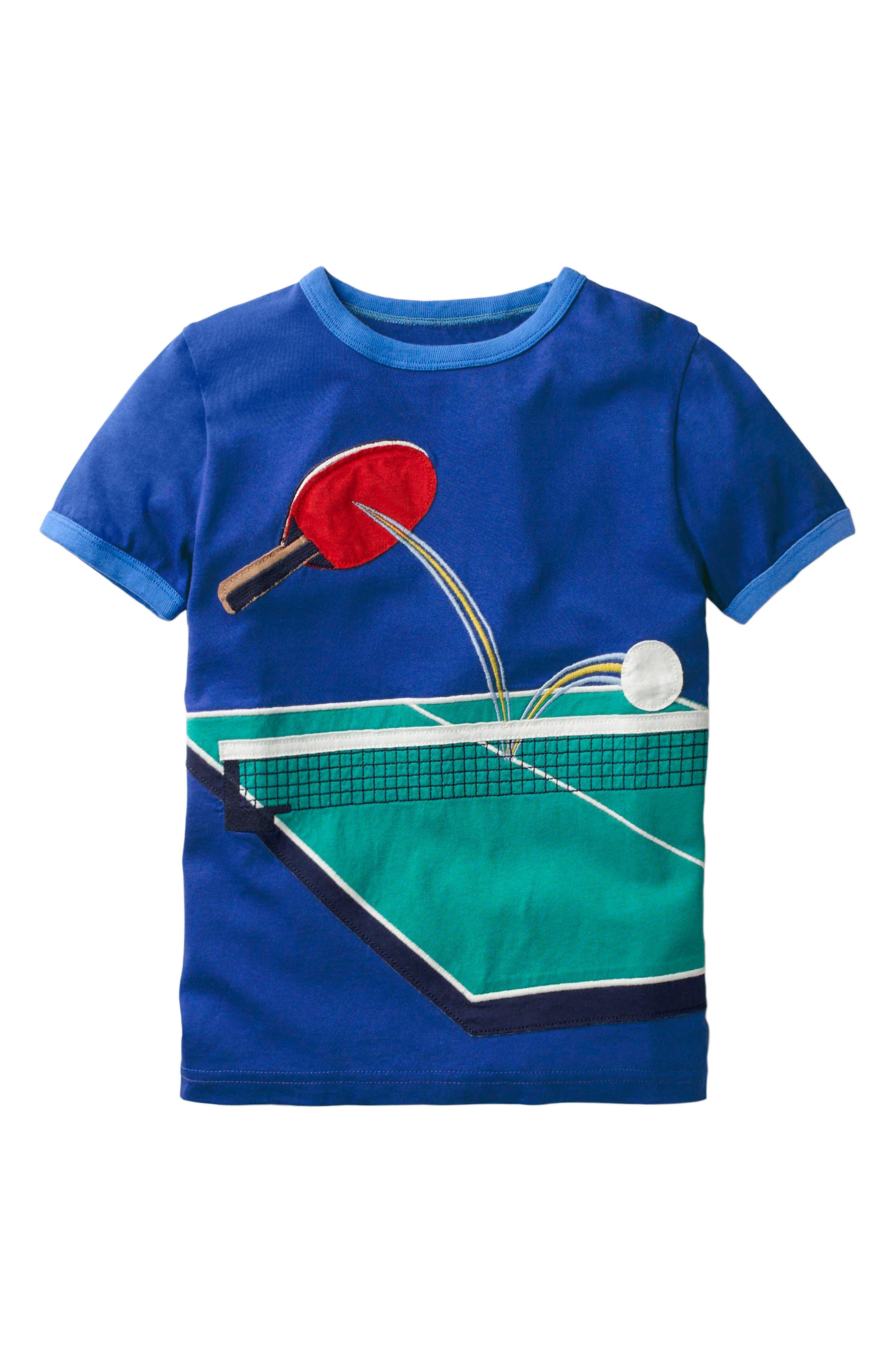 Sports Appliqué T-Shirt,                         Main,                         color, Orion Blue Table Tennis
