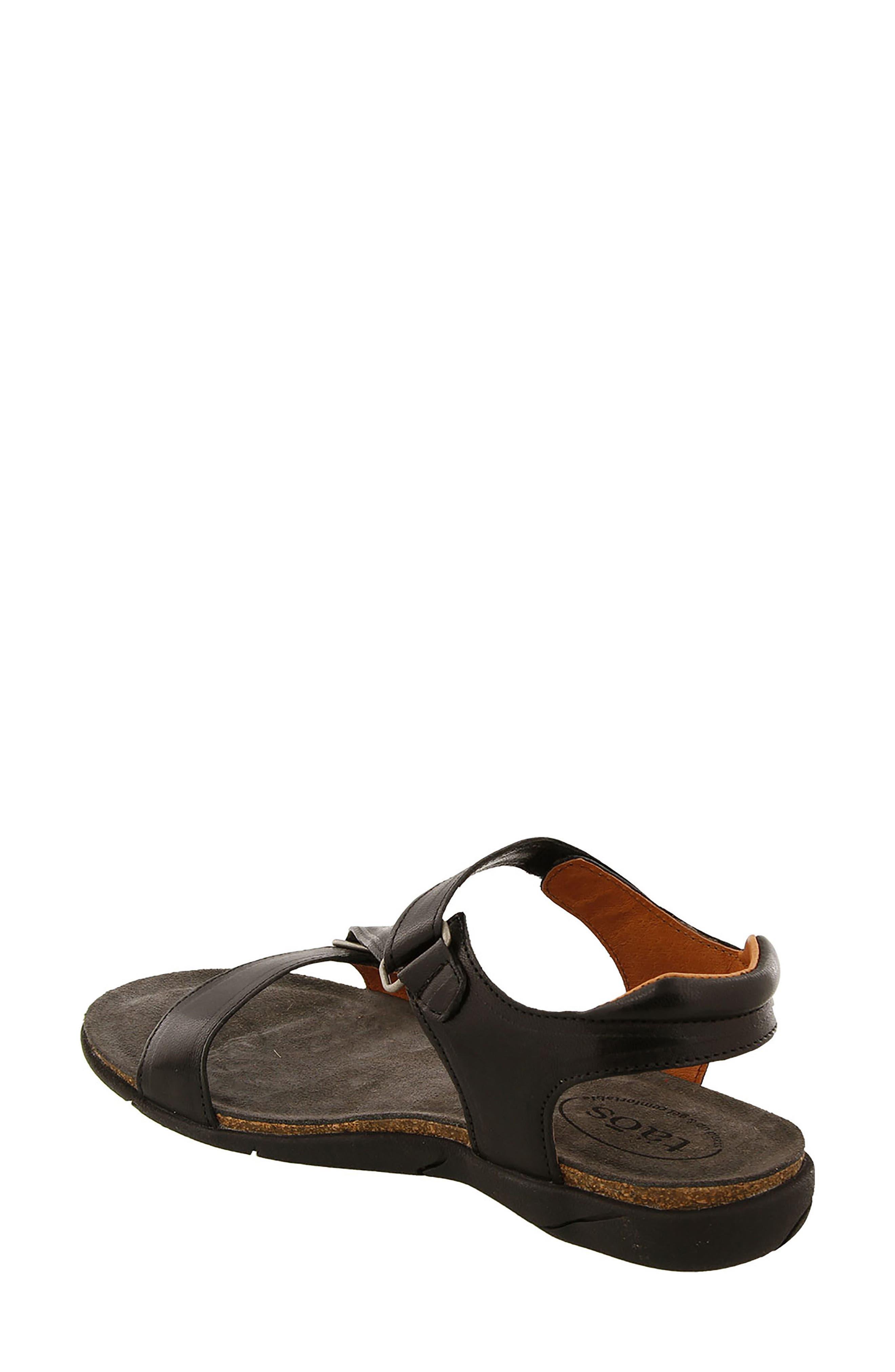 Zeal Sandal,                             Alternate thumbnail 2, color,                             Black Leather