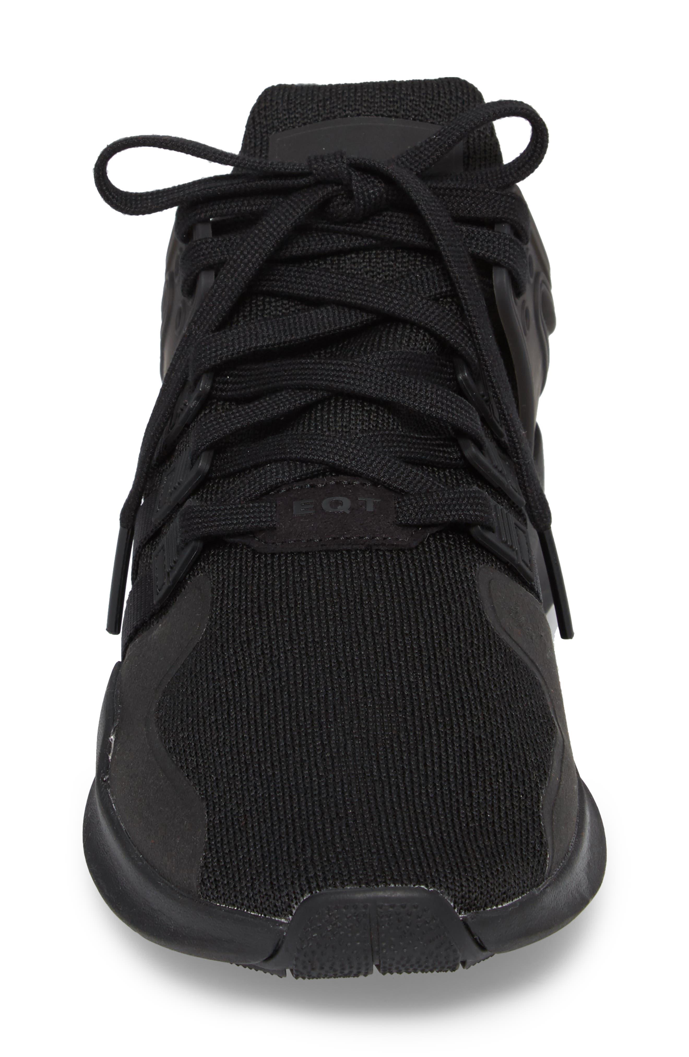 EQT Support Adv Sneaker,                             Alternate thumbnail 4, color,                             Core Black / Black / White
