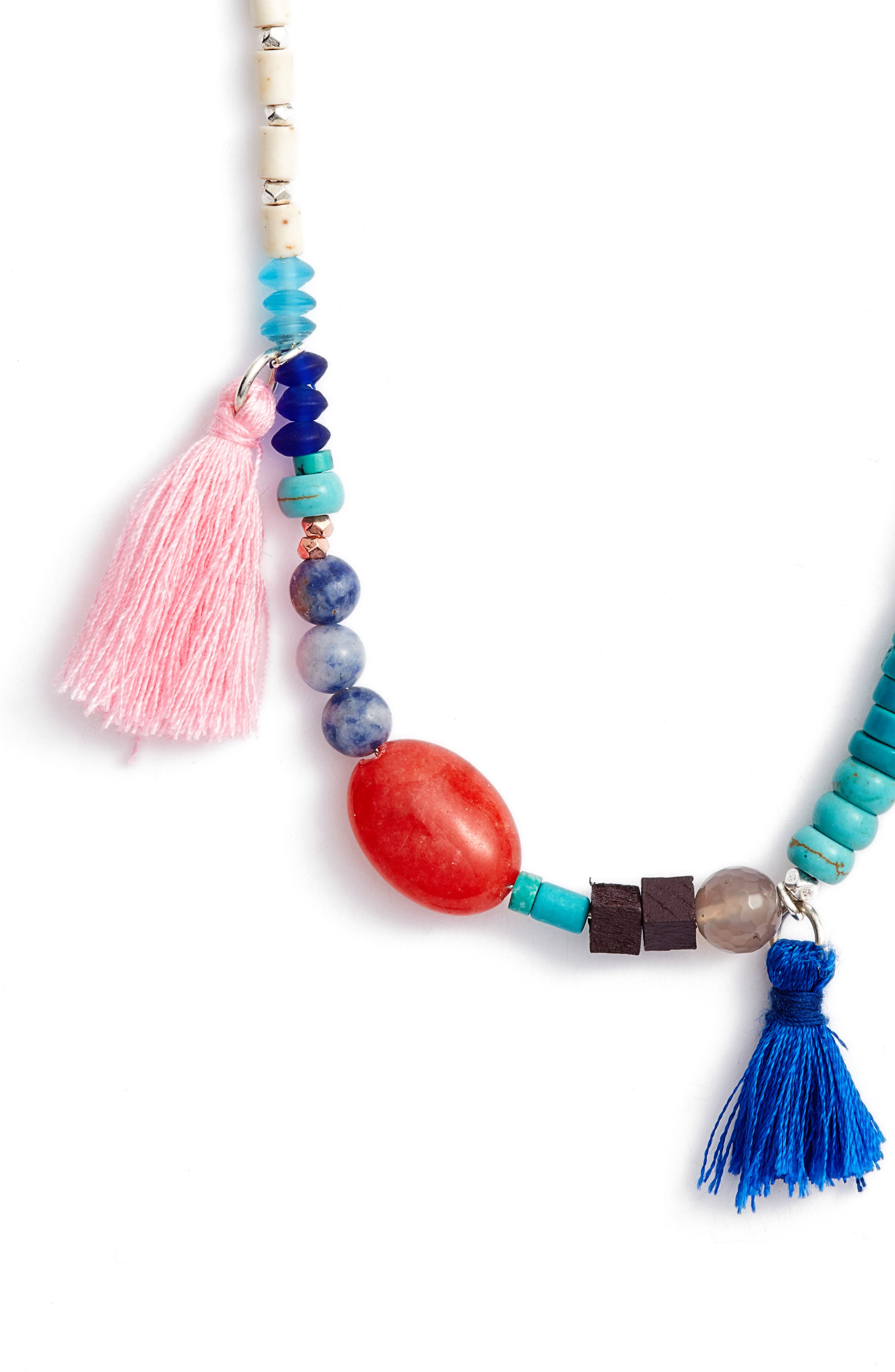 Beaded Necklace,                             Alternate thumbnail 2, color,                             Turquoise