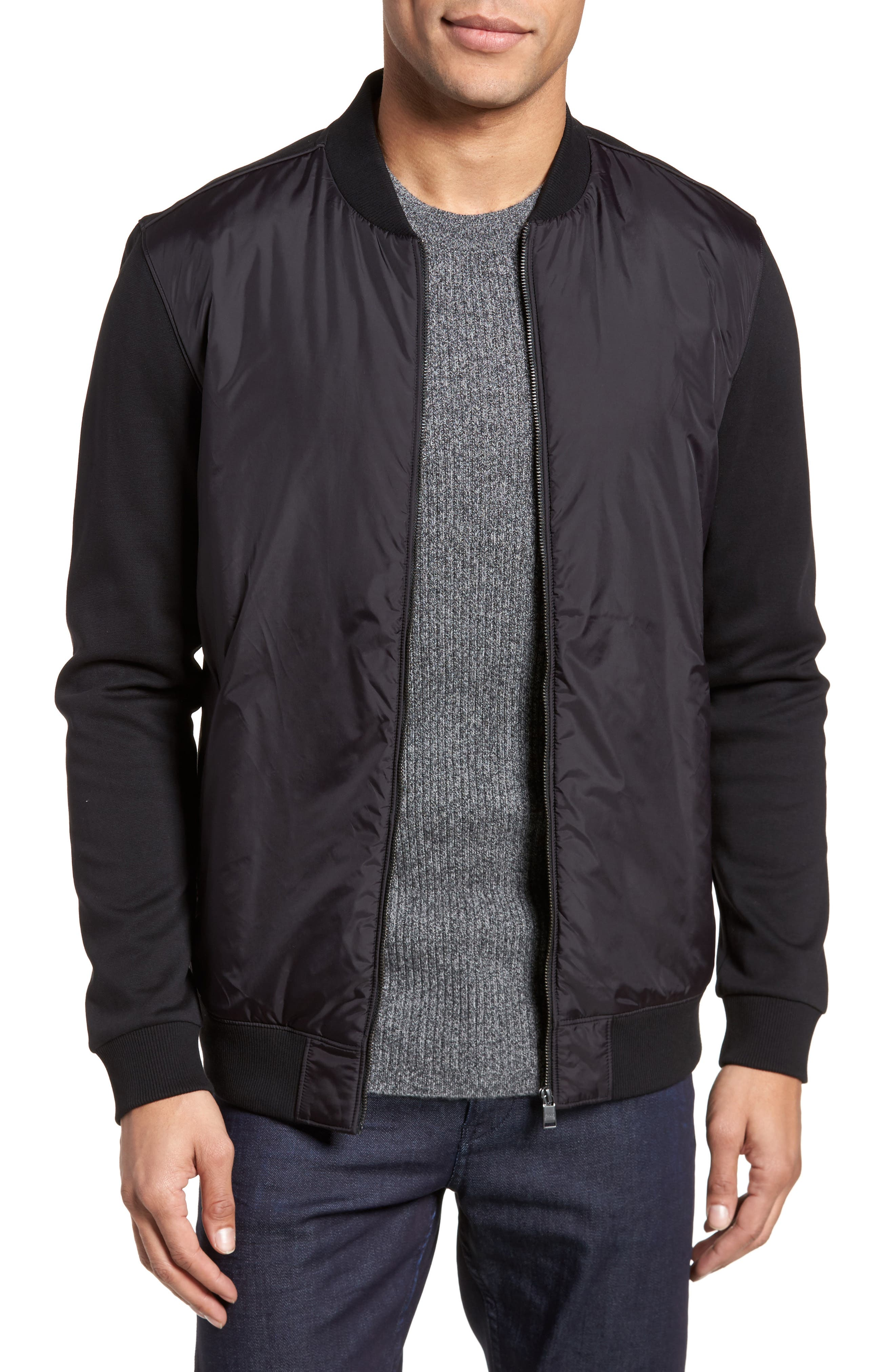 BOSS Shepherd Regular Fit Bomber Jacket