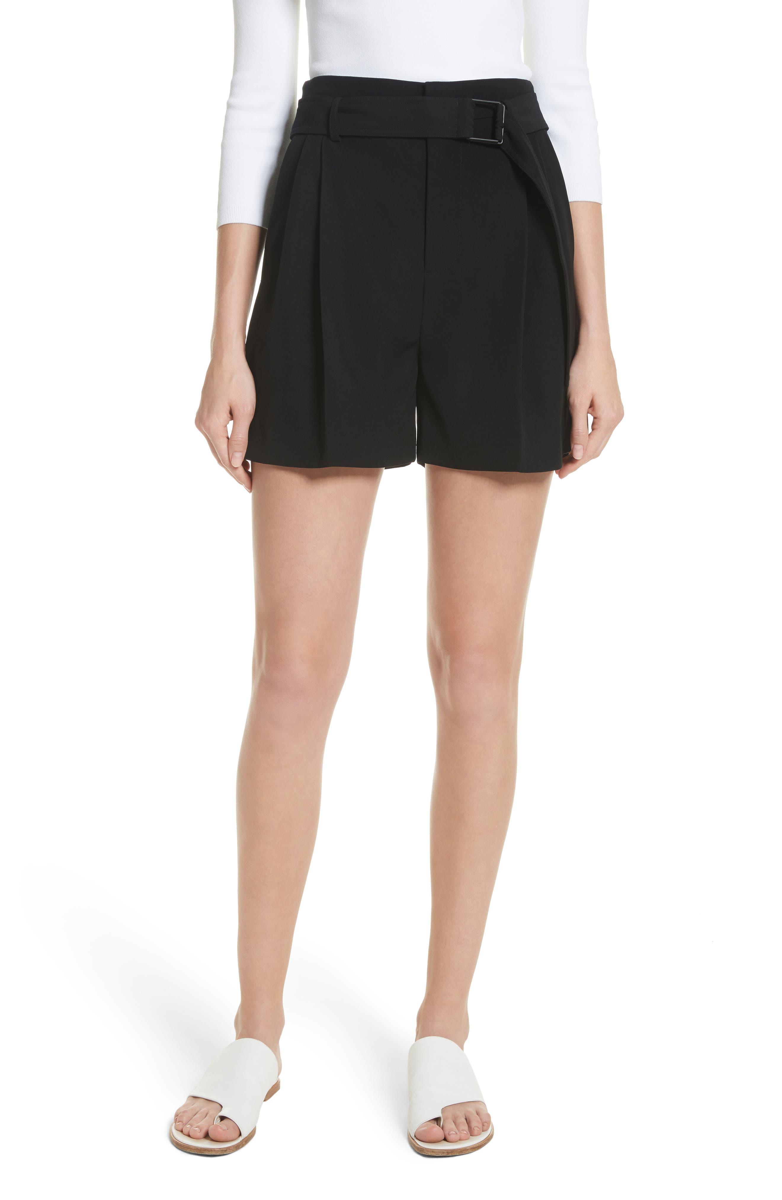 Belted Shorts,                             Main thumbnail 1, color,                             Black