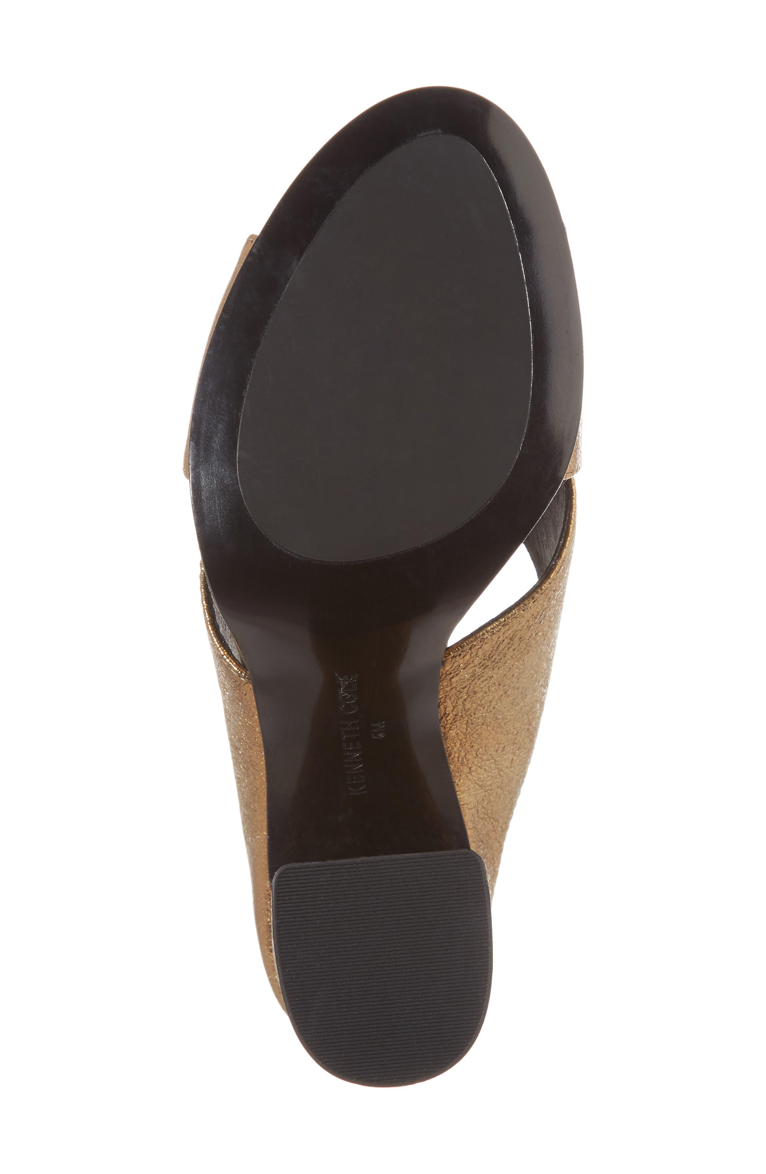 Lyra Sandal,                             Alternate thumbnail 6, color,                             Gold Metallic Leather