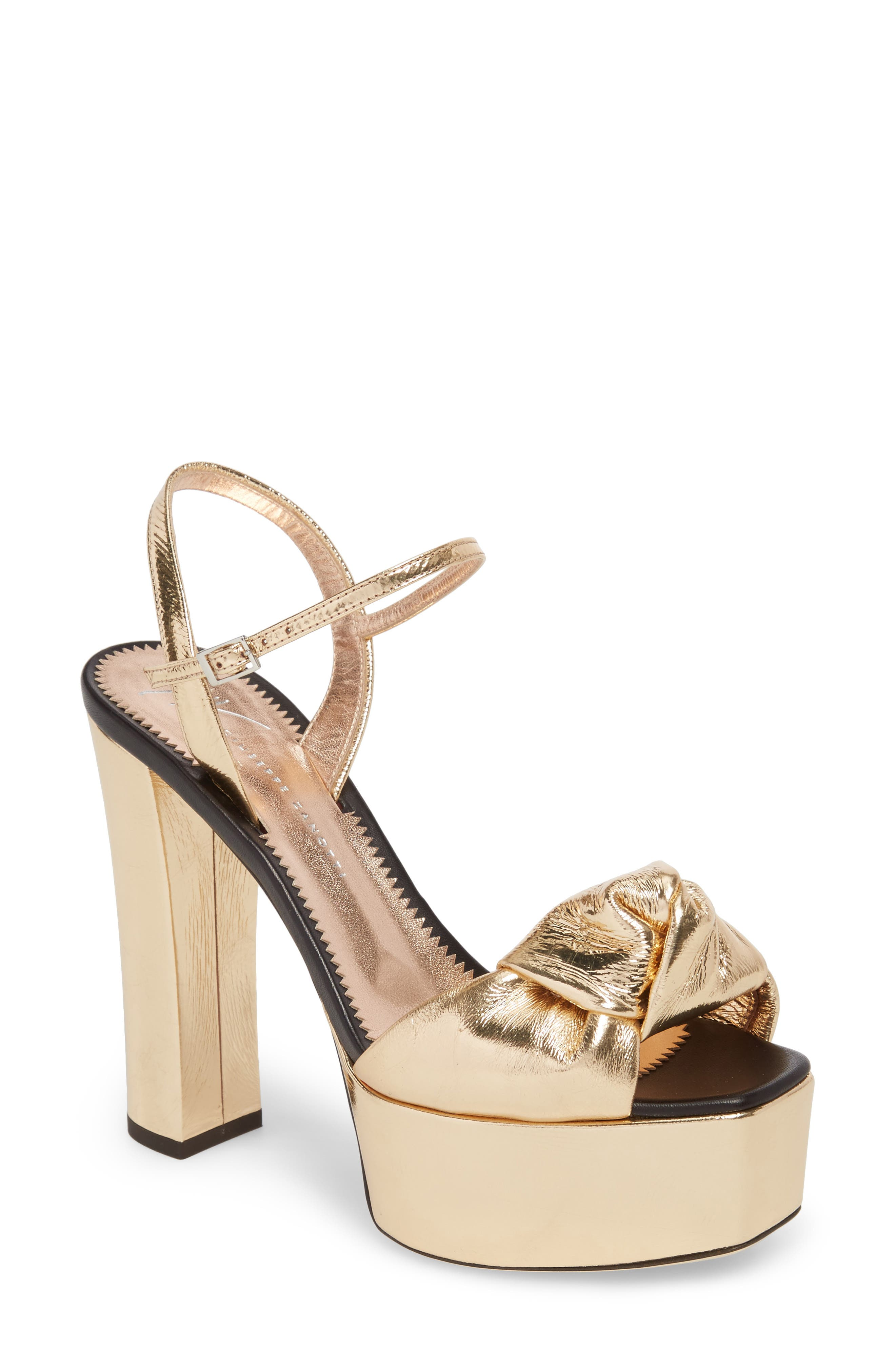 Lavinia Knot Sandal,                             Main thumbnail 1, color,                             Rose Gold