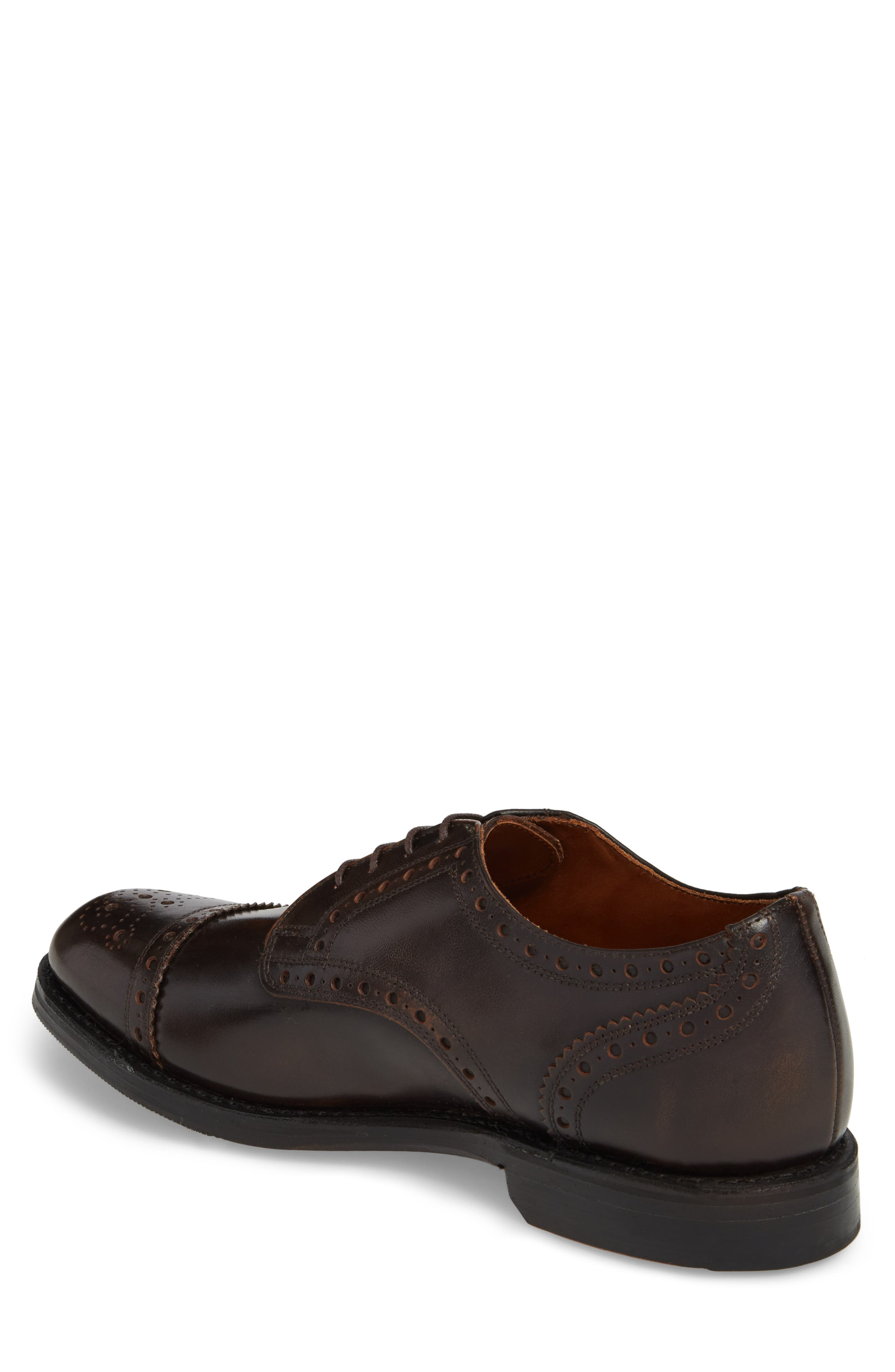 Whitney Medallion Toe Derby,                             Alternate thumbnail 2, color,                             Brown Leather