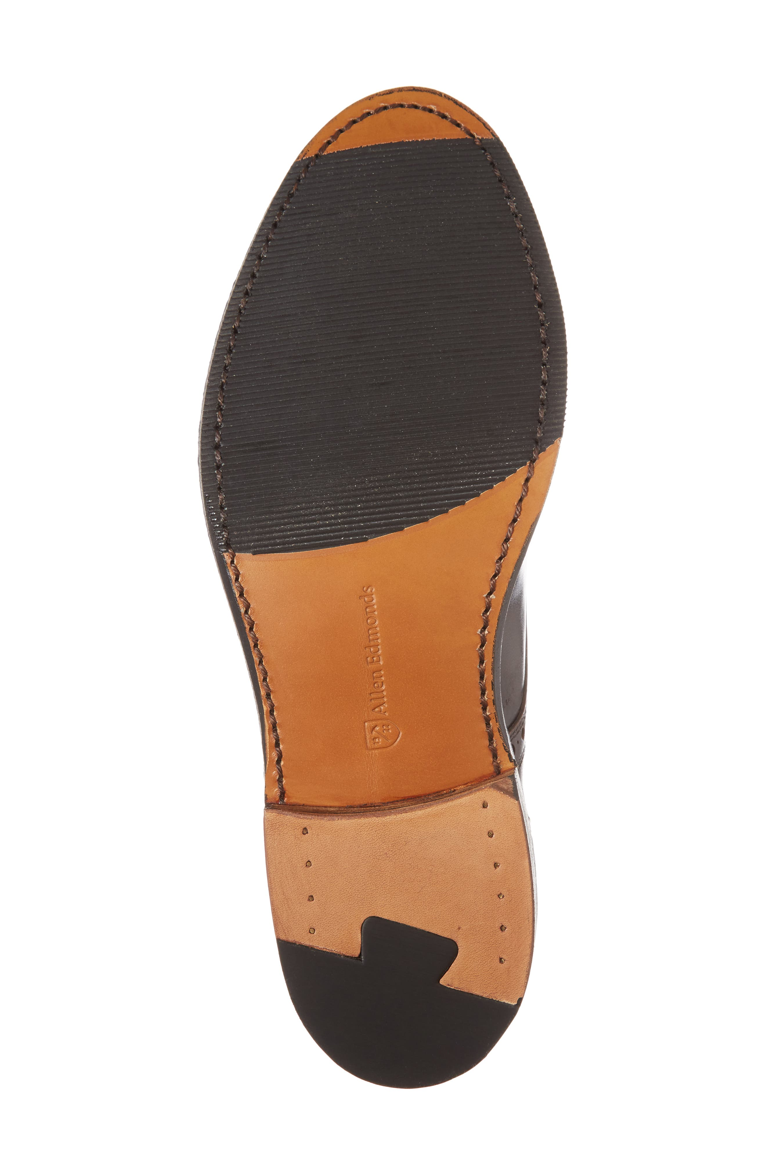 Whitney Medallion Toe Derby,                             Alternate thumbnail 6, color,                             Brown Leather