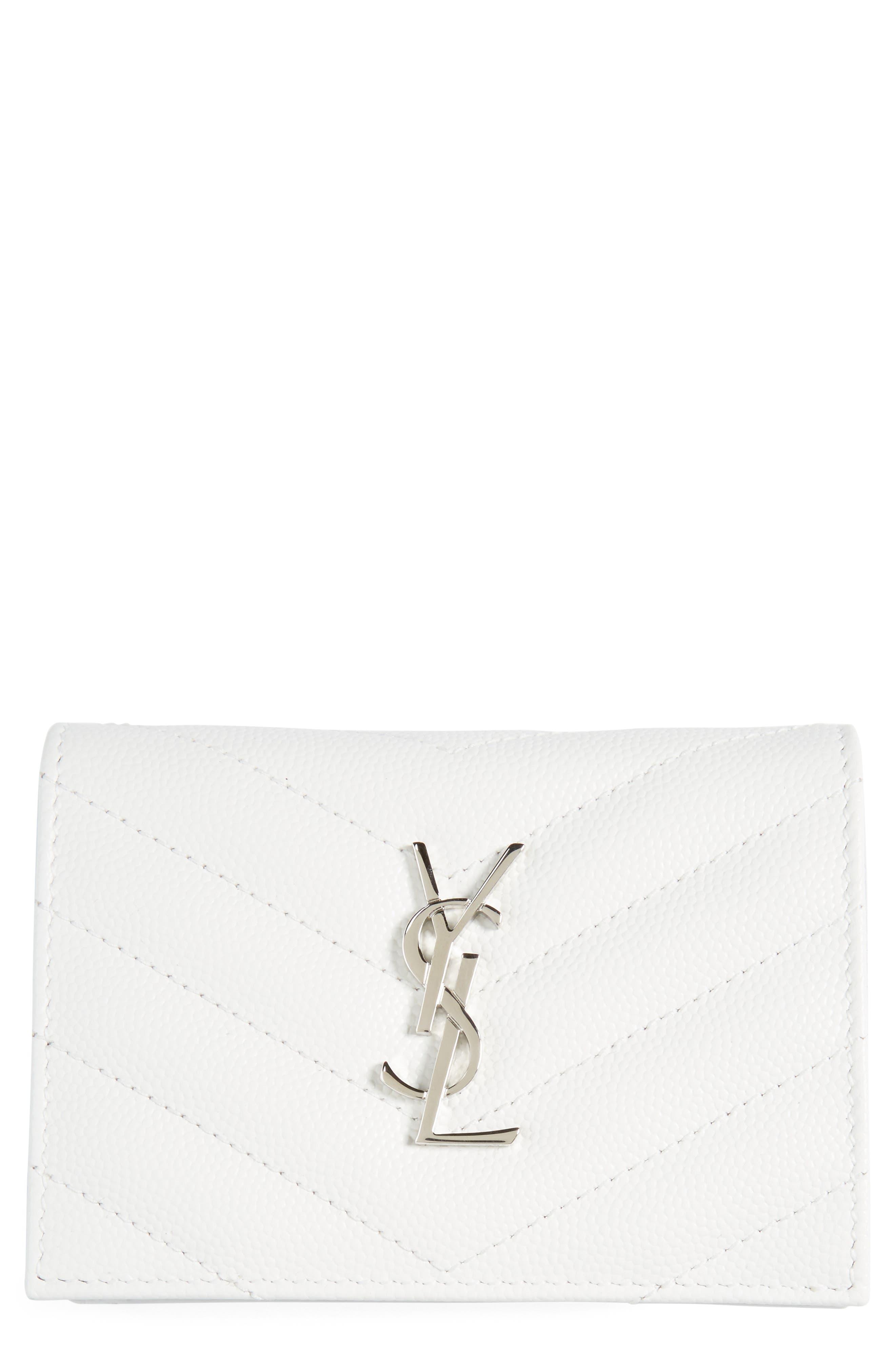 Saint Laurent Textured Leather Card Case