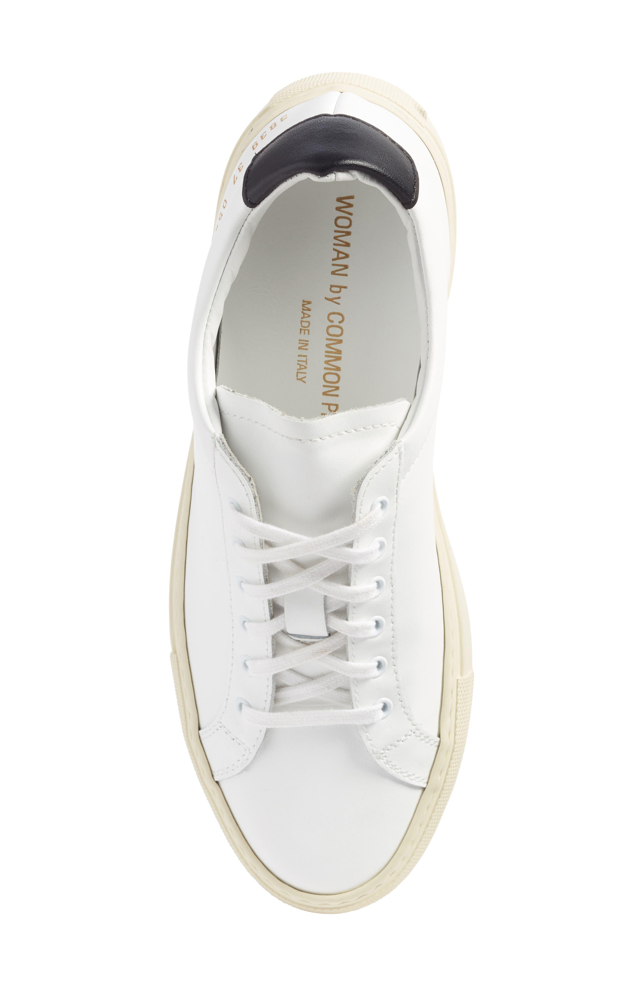 Achilles Low Top Sneaker,                             Alternate thumbnail 5, color,                             White/ Black