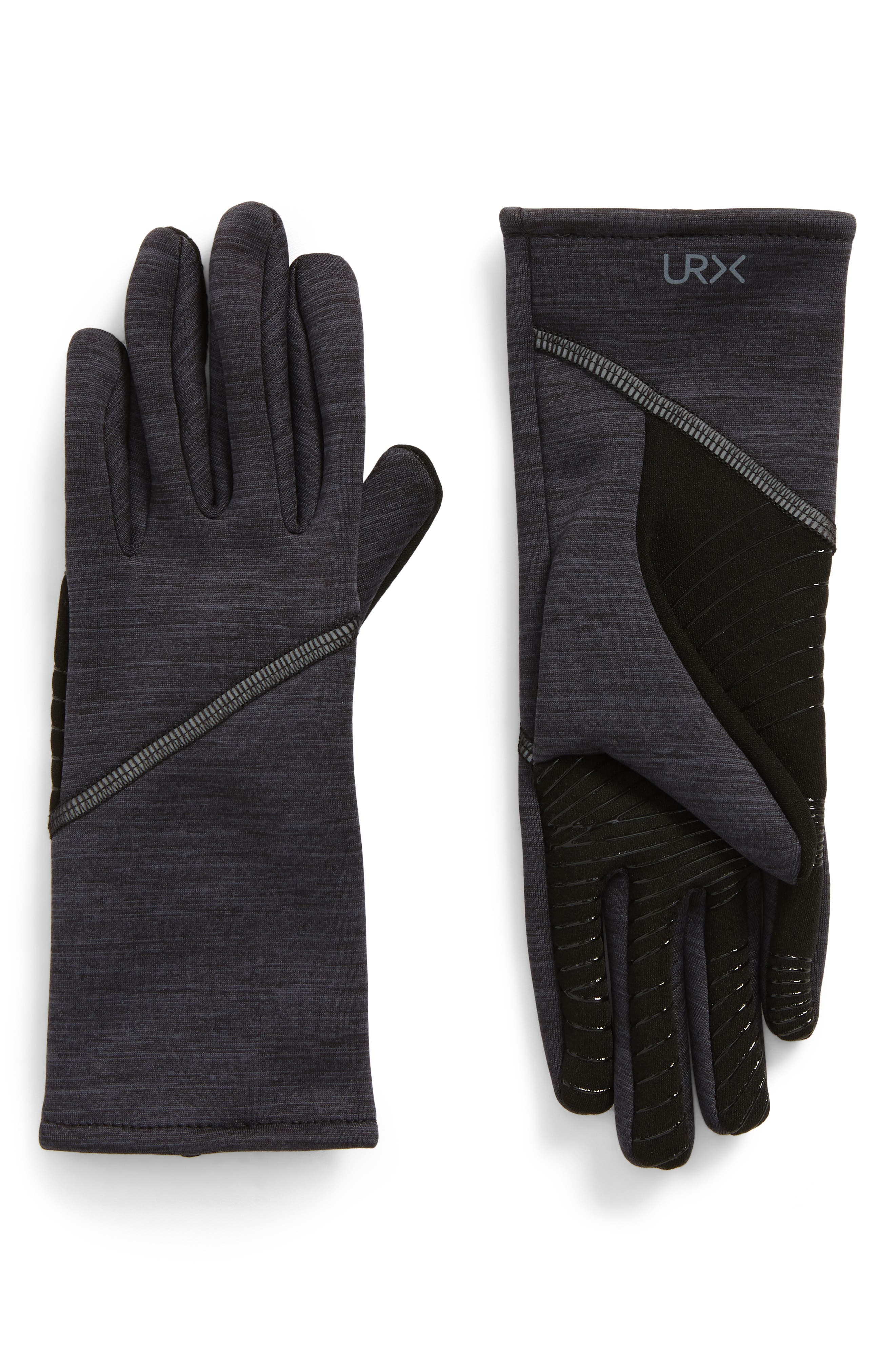 Seamed Stretch Tech Gloves,                             Main thumbnail 1, color,                             Black M
