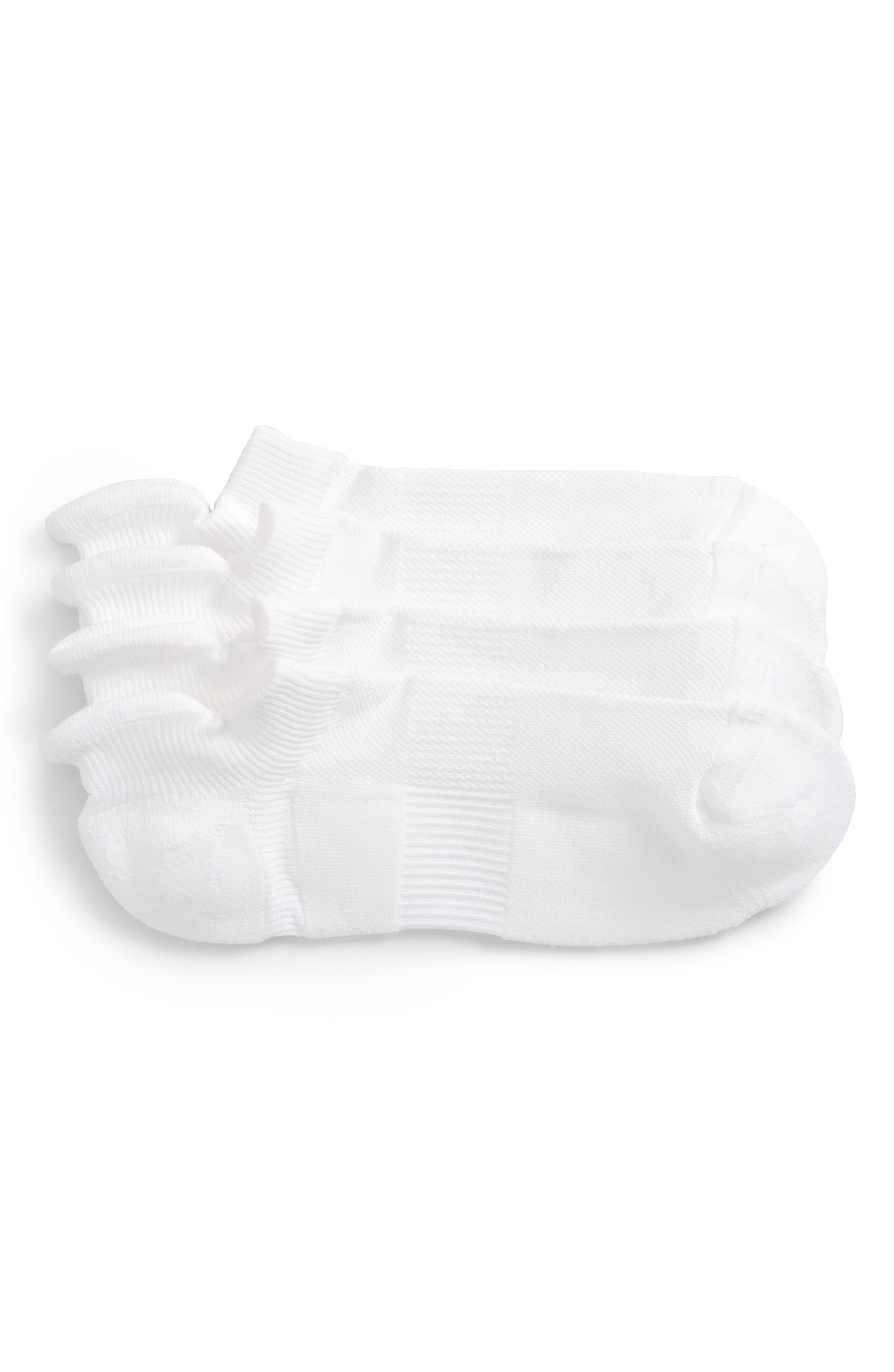 2-Pack Tech-Smart No-Show Socks,                         Main,                         color, White
