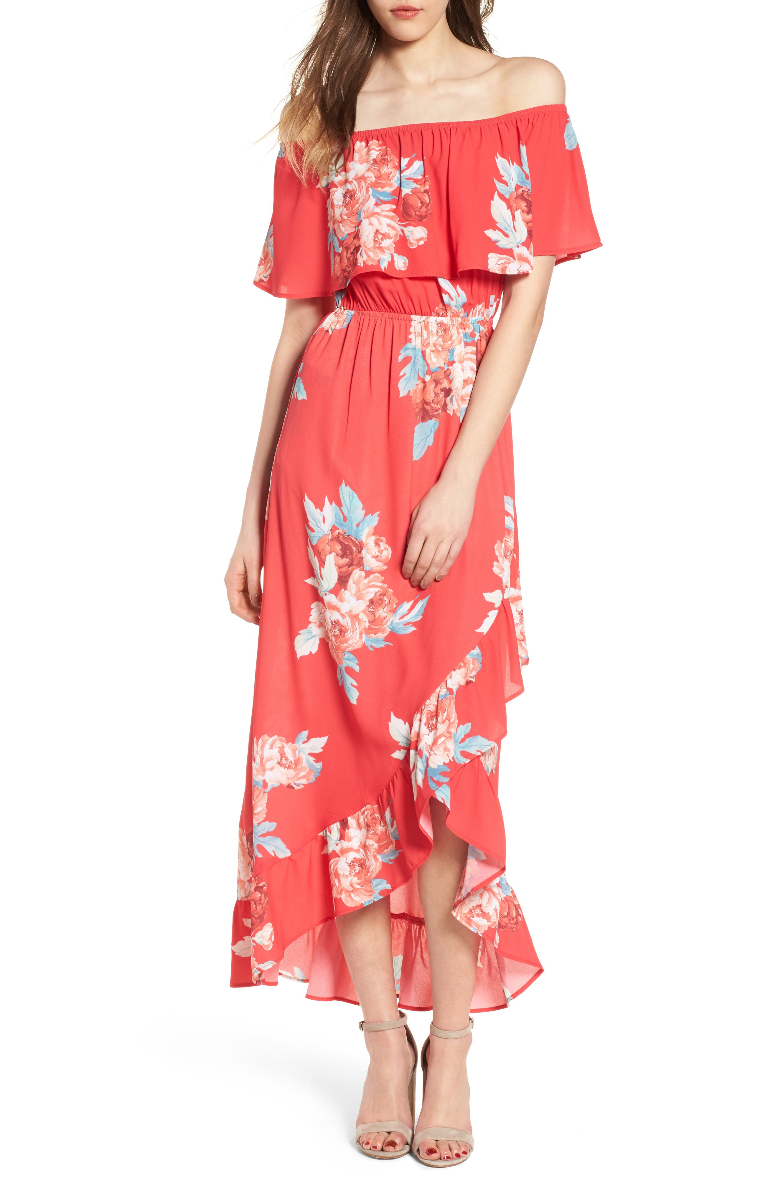 Mimi Chica Off The Shoulder Maxi Dress