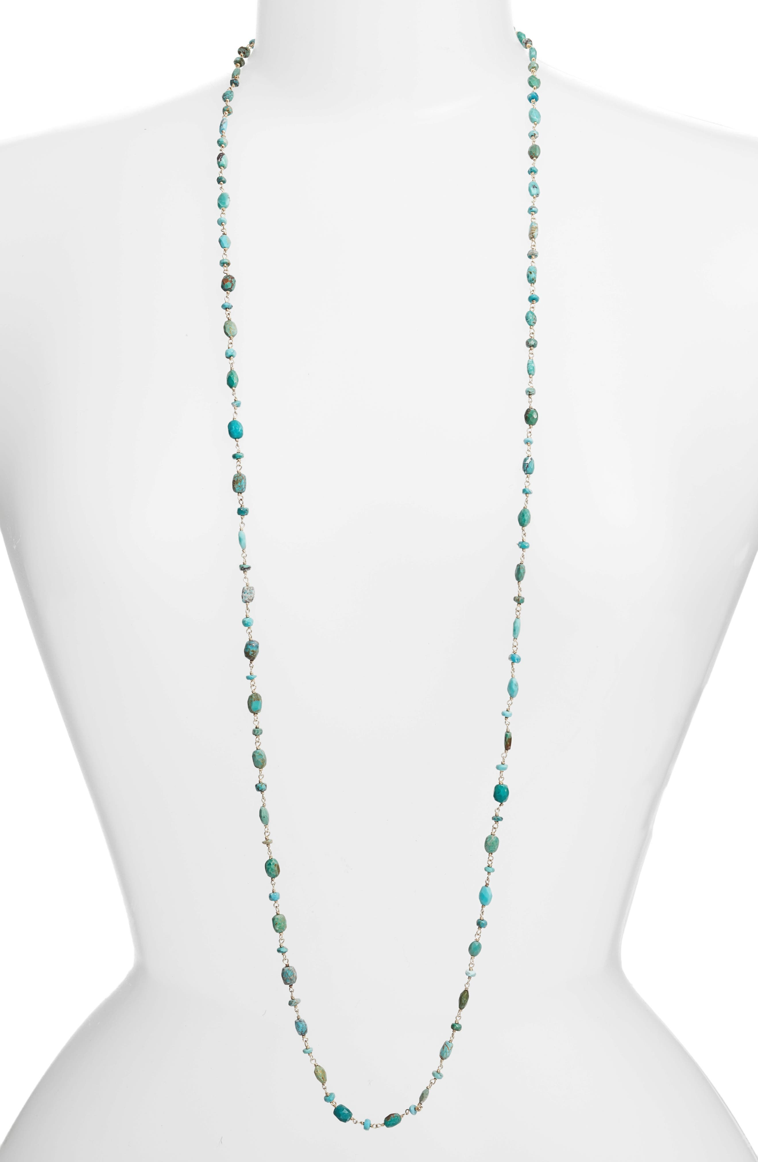 The Diana Oval Turquoise Necklace,                         Main,                         color, Turquoise