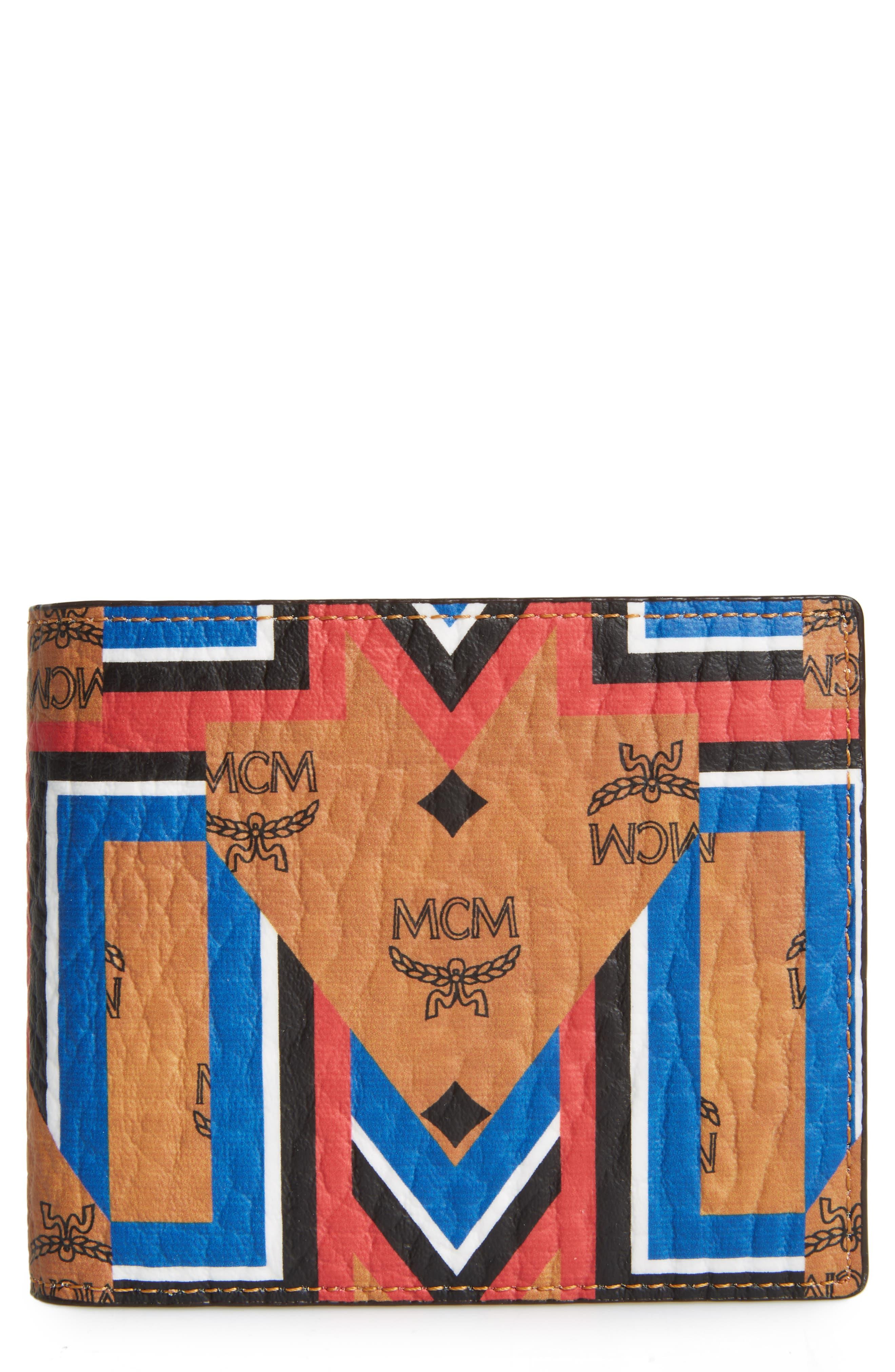 Alternate Image 1 Selected - MCM Gunta Visetos Faux Leather Wallet