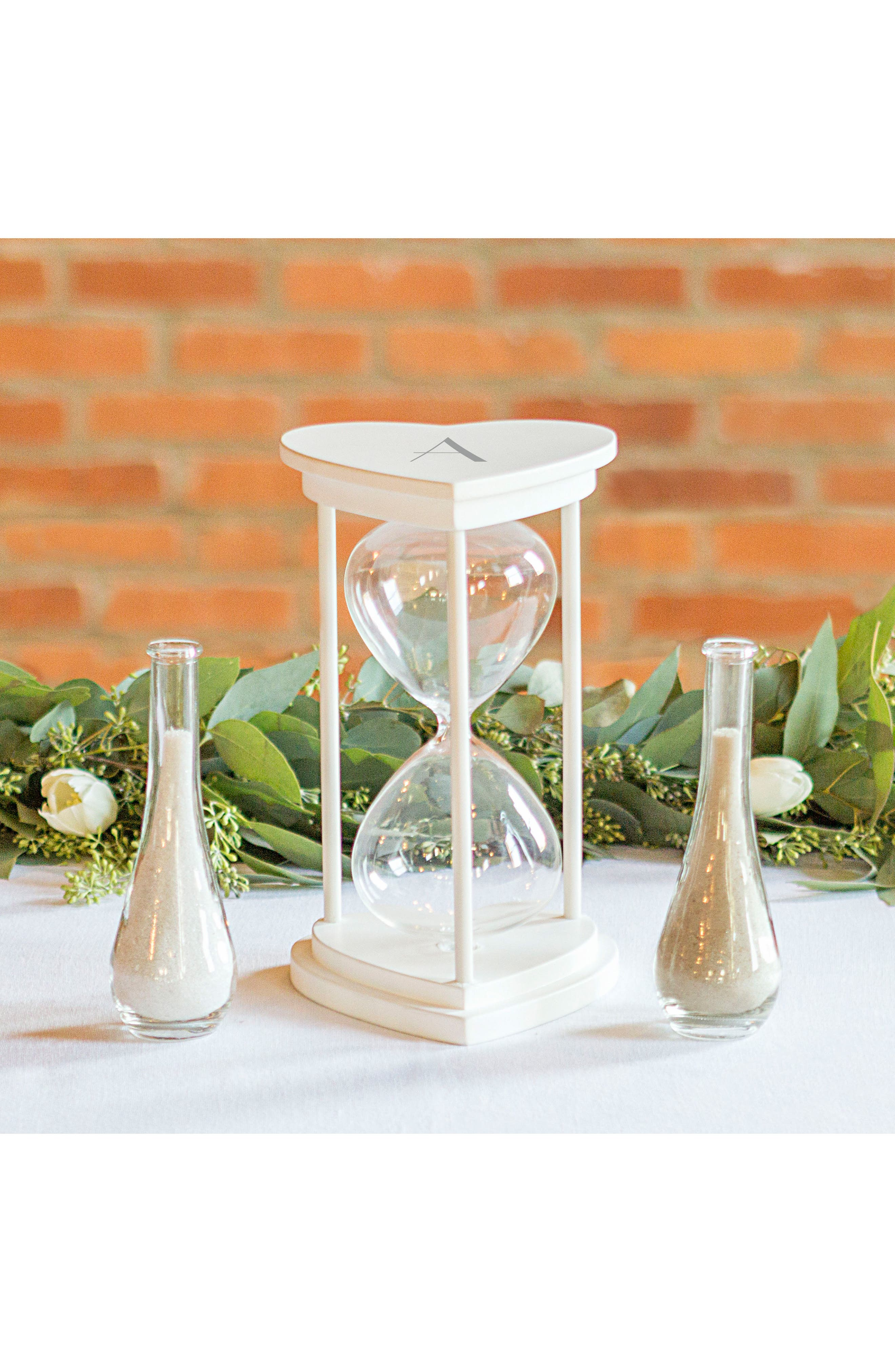 Monogram Unity Sand Ceremony Hourglass Set,                             Alternate thumbnail 6, color,