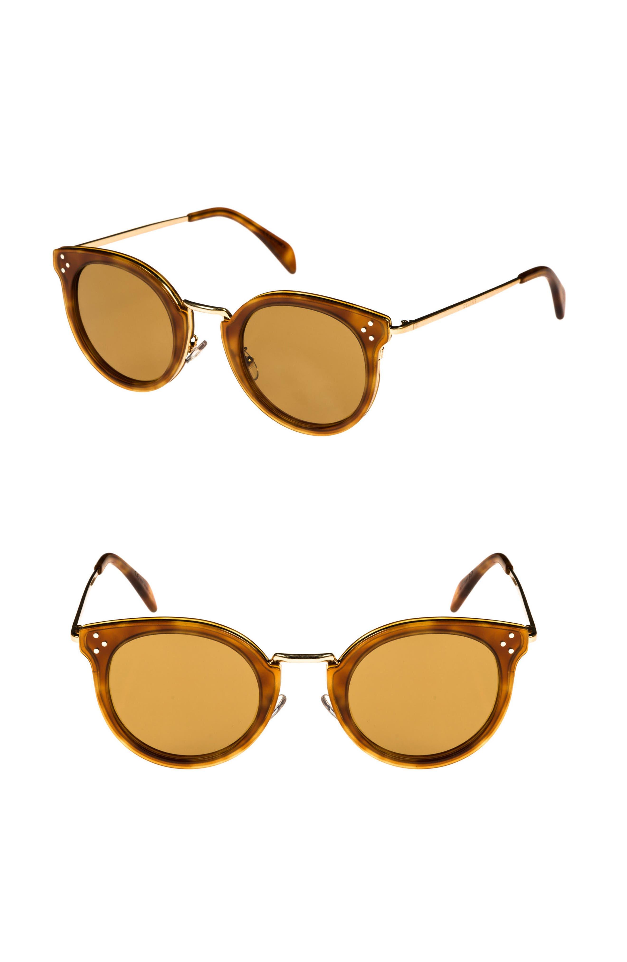 Alternate Image 1 Selected - Céline 49mm Round Sunglasses