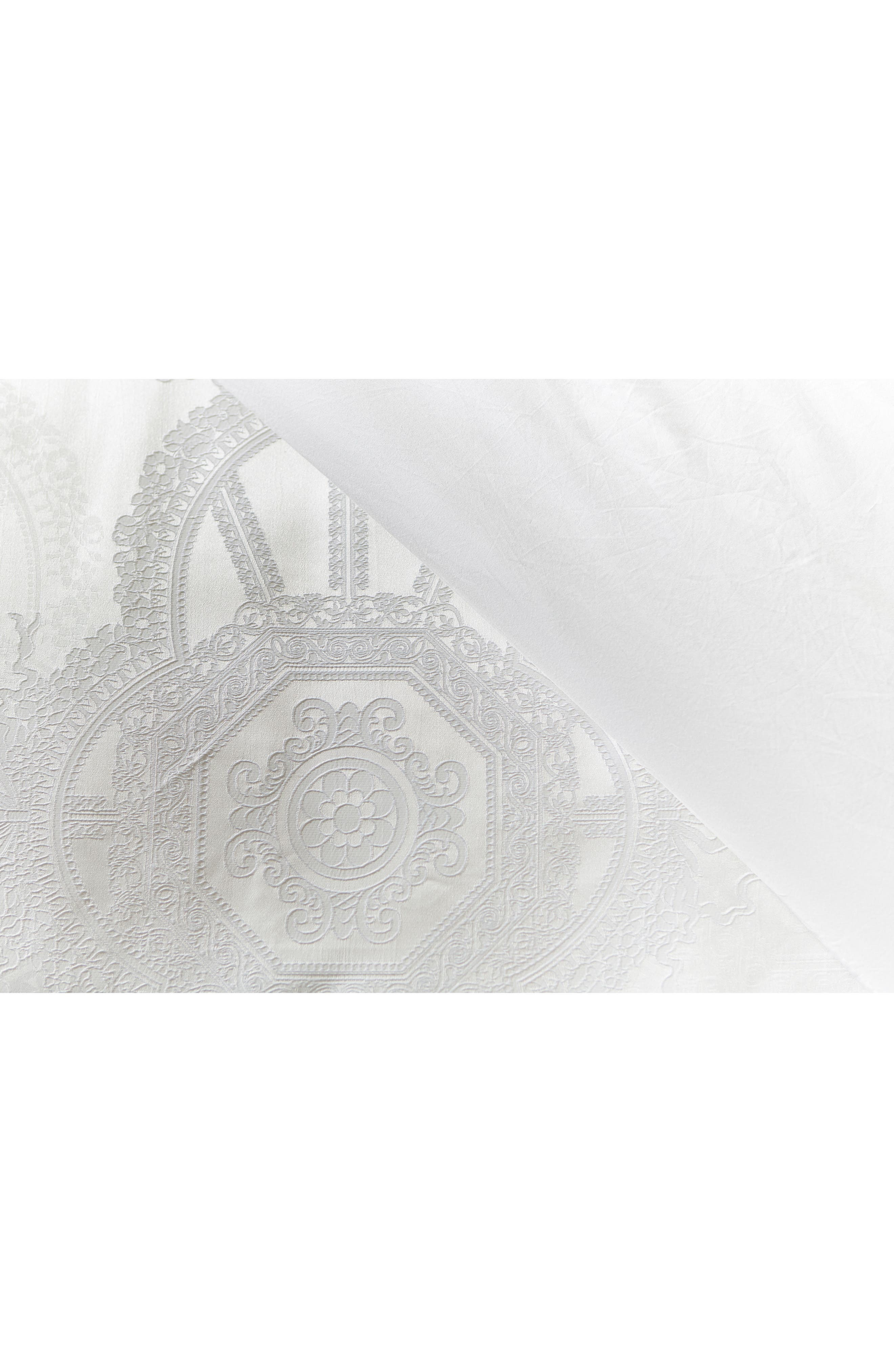 Versailles Duvet Cover & Sham Set,                             Alternate thumbnail 3, color,                             White
