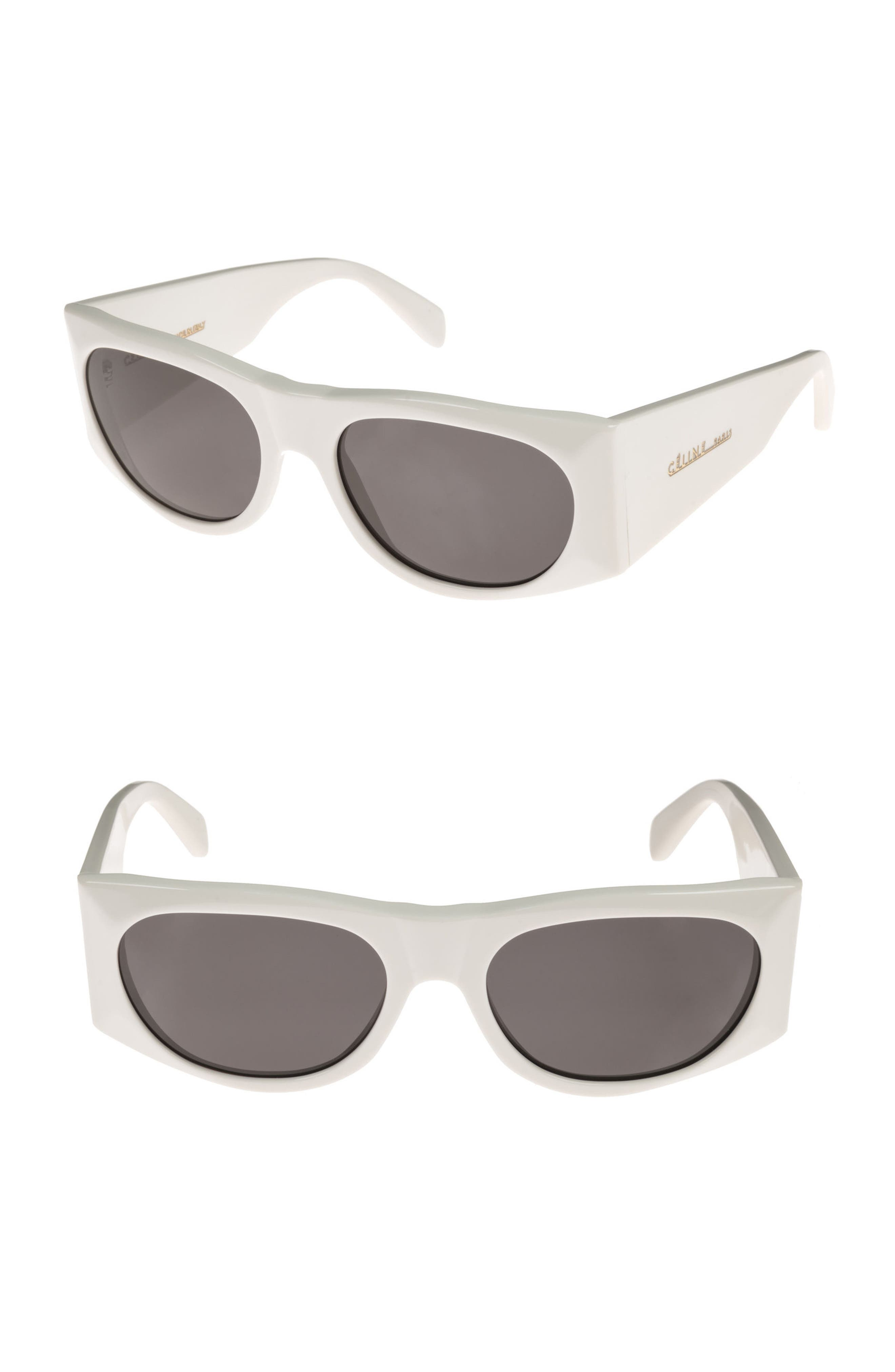 59mm Sunglasses,                         Main,                         color, White Milk/ Smoke