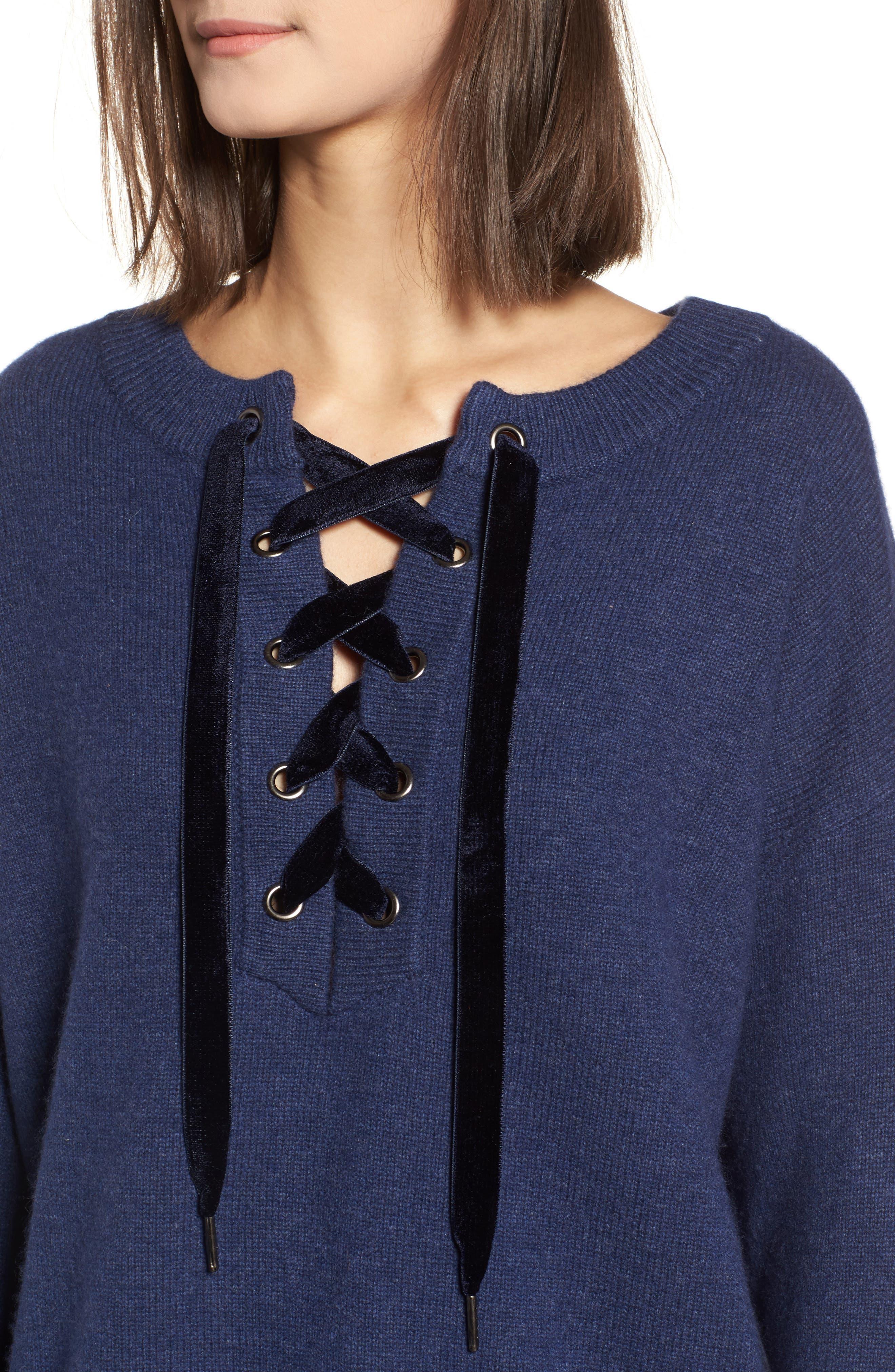 Alternate Image 4  - Rails Olivia Lace-Up Sweater