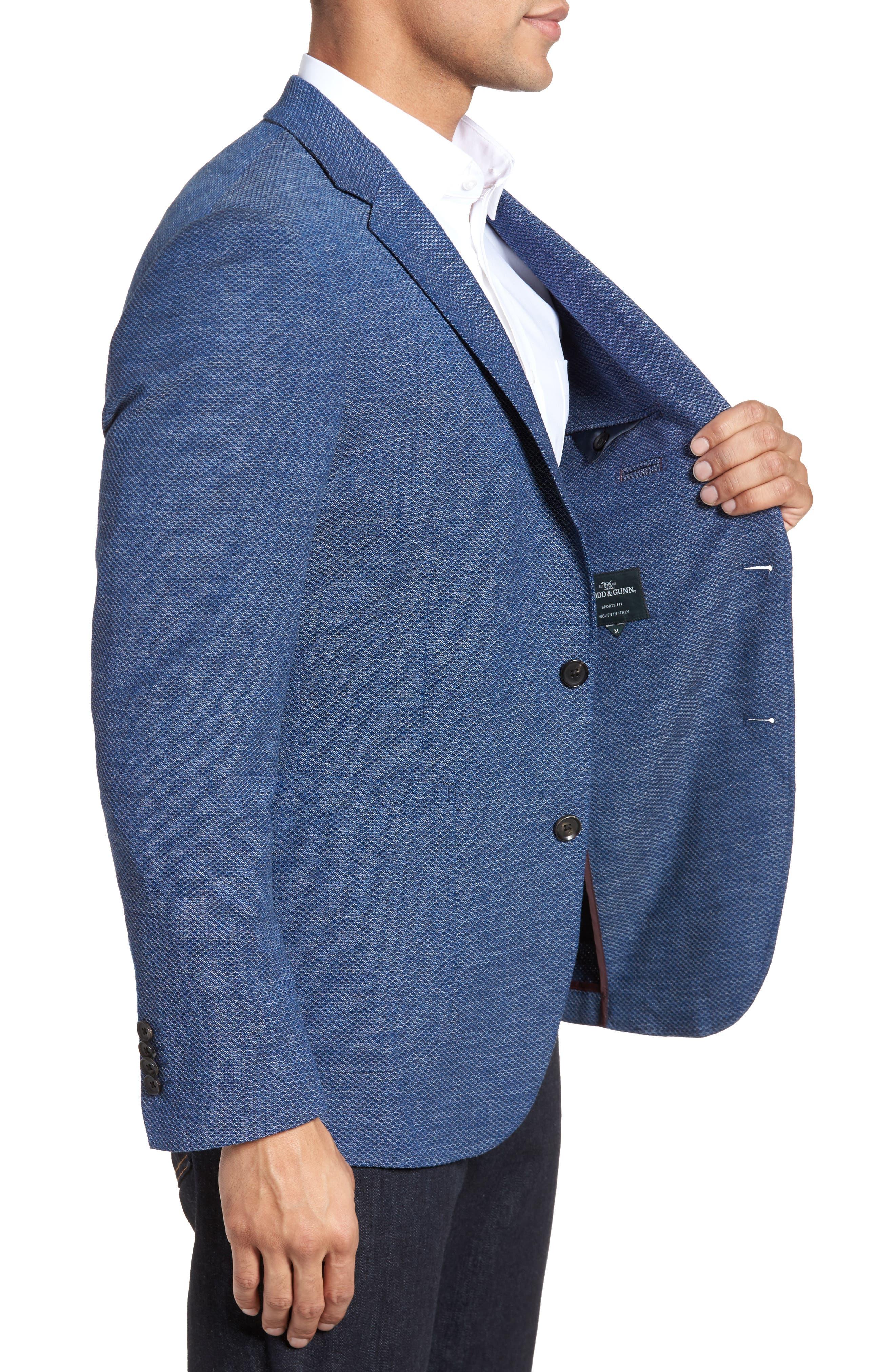 Fife Street Wool Blend Blazer,                             Alternate thumbnail 3, color,                             Marine