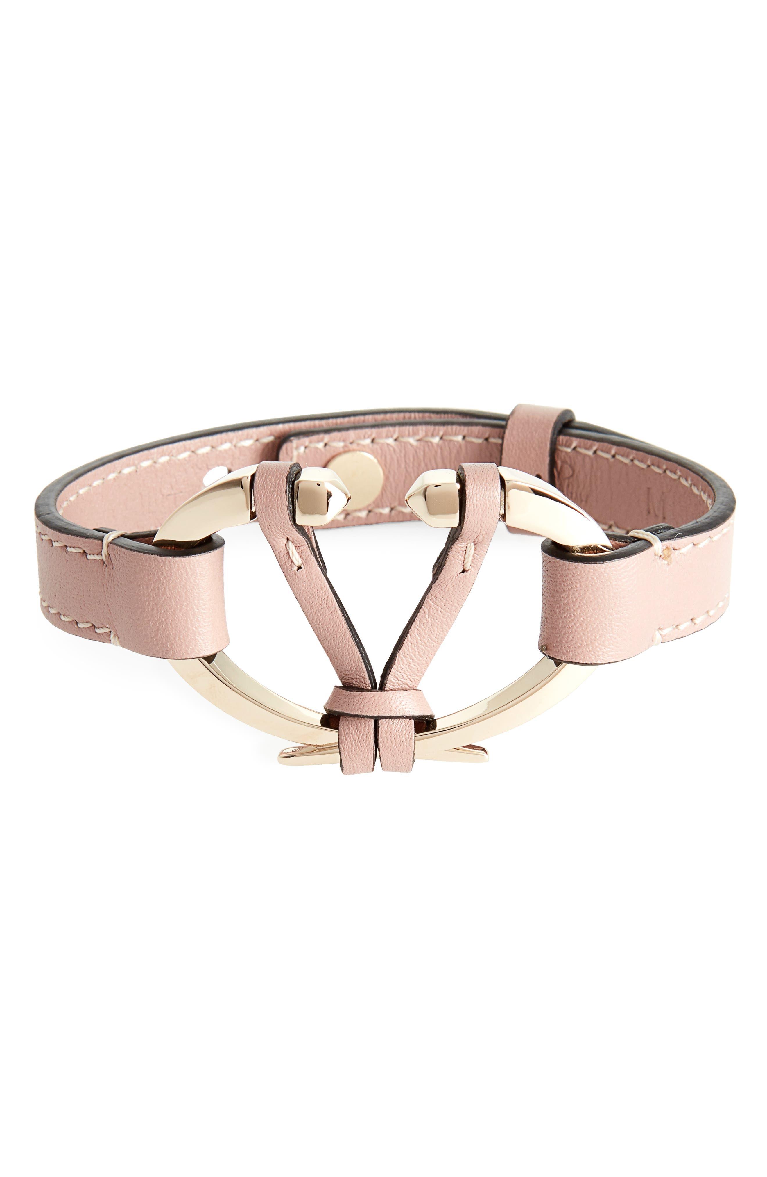 Valentino Rockstud V Leather Bracelet