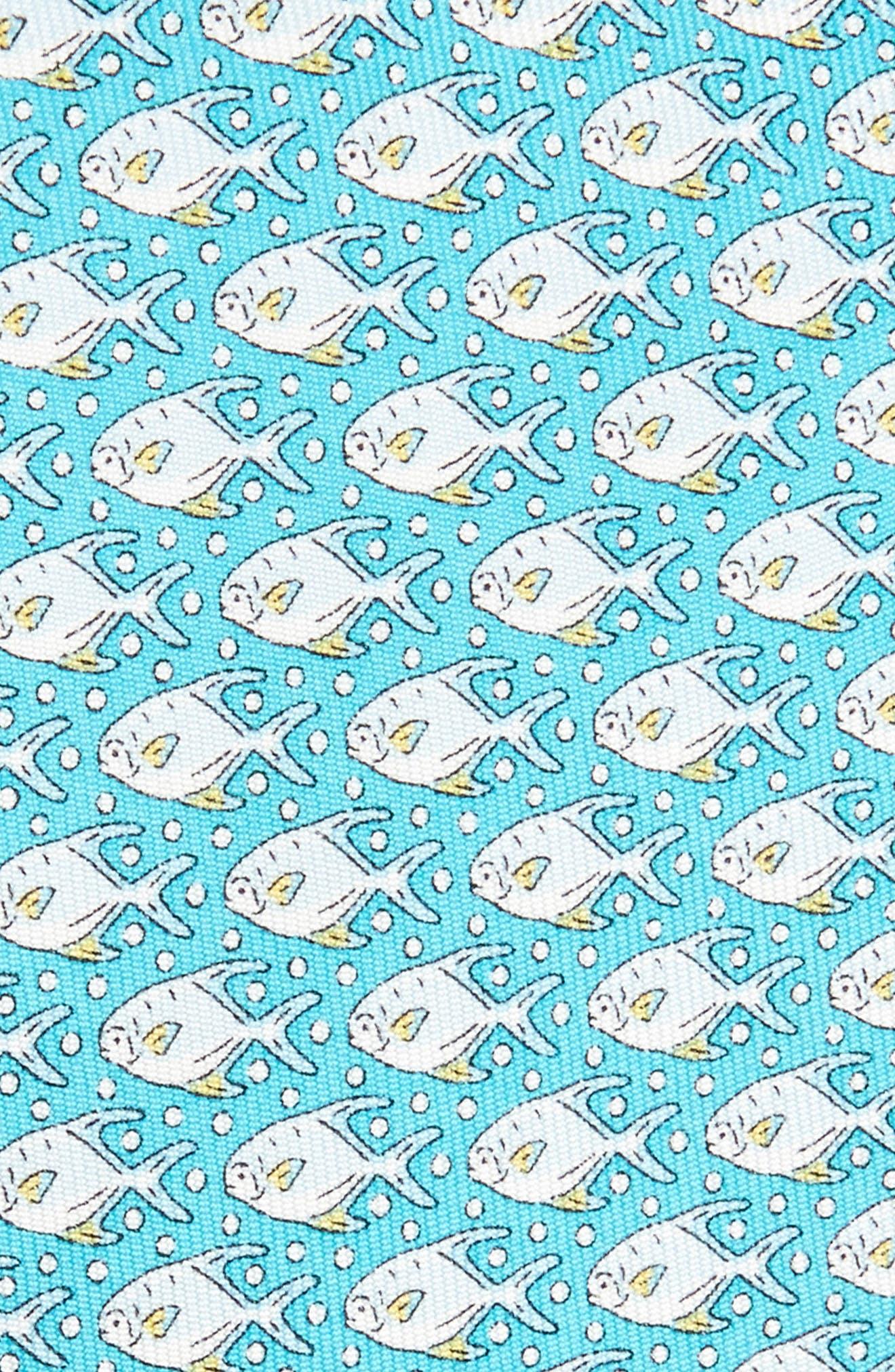 Permit & Bubble Silk Tie,                             Alternate thumbnail 2, color,                             Blue