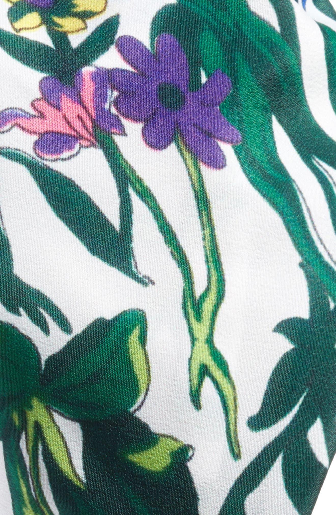 Floral Garden Print Head Wrap,                             Alternate thumbnail 2, color,                             White Multi