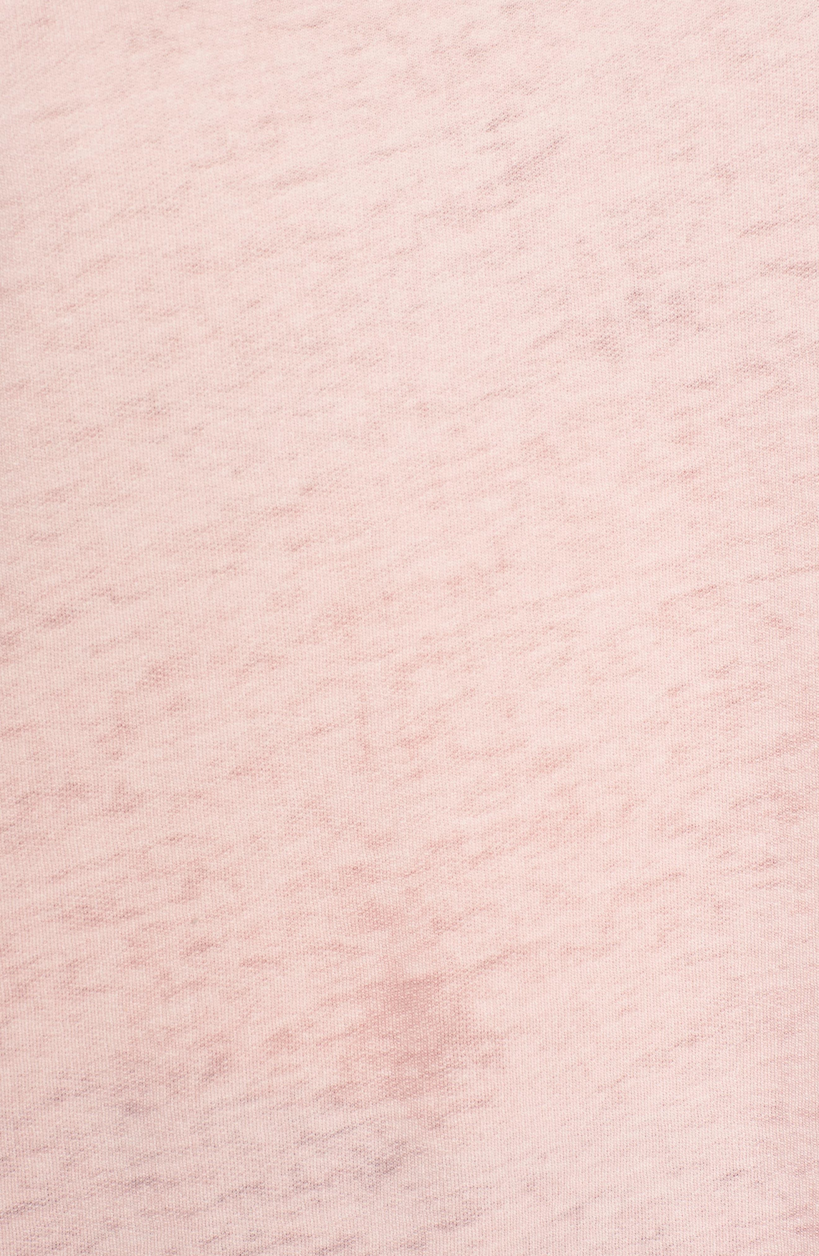 Bell Sleeve Sweatshirt,                             Alternate thumbnail 6, color,                             Pink Silver