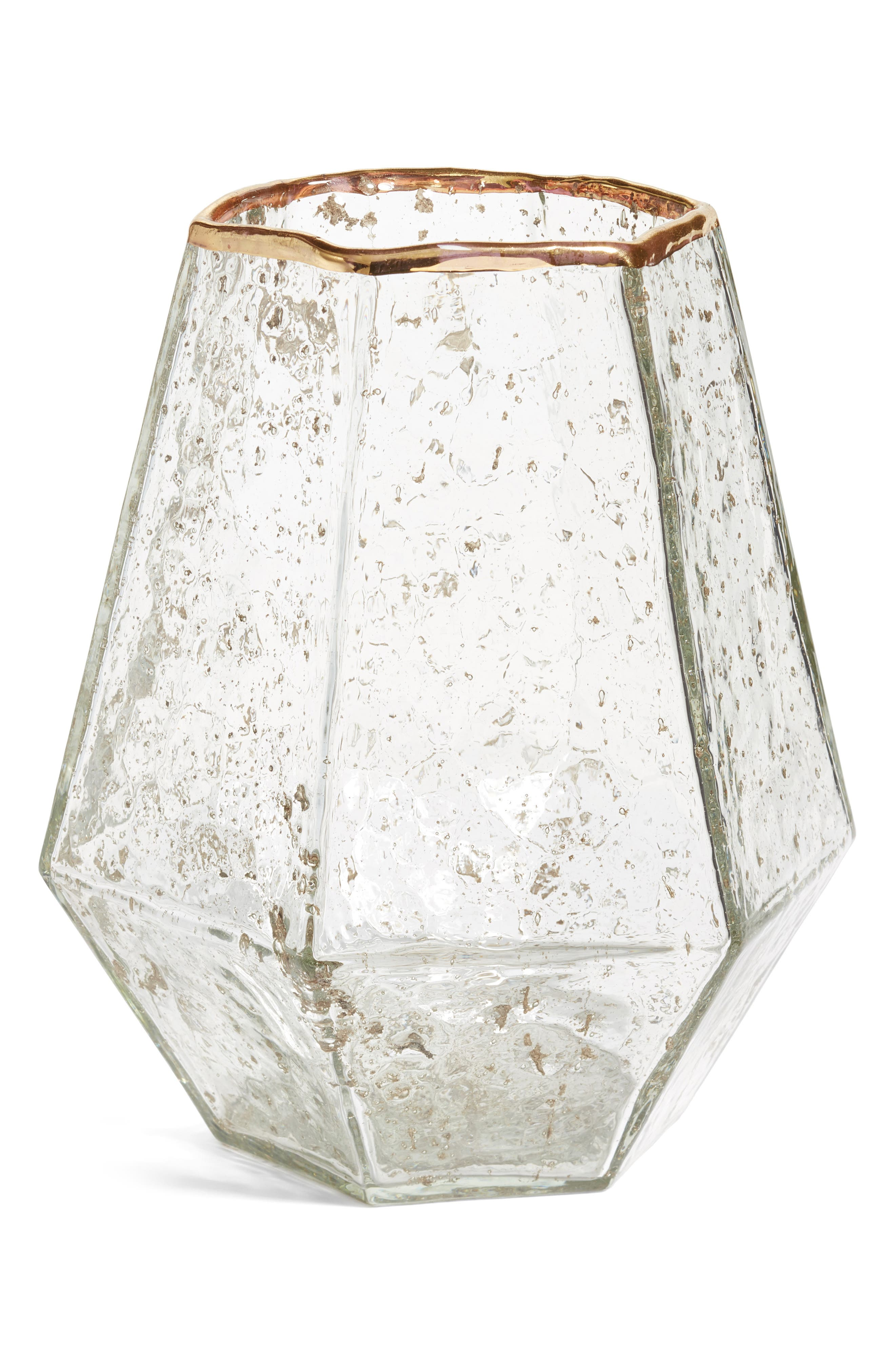 Glass Vase,                         Main,                         color, Gold Metallic