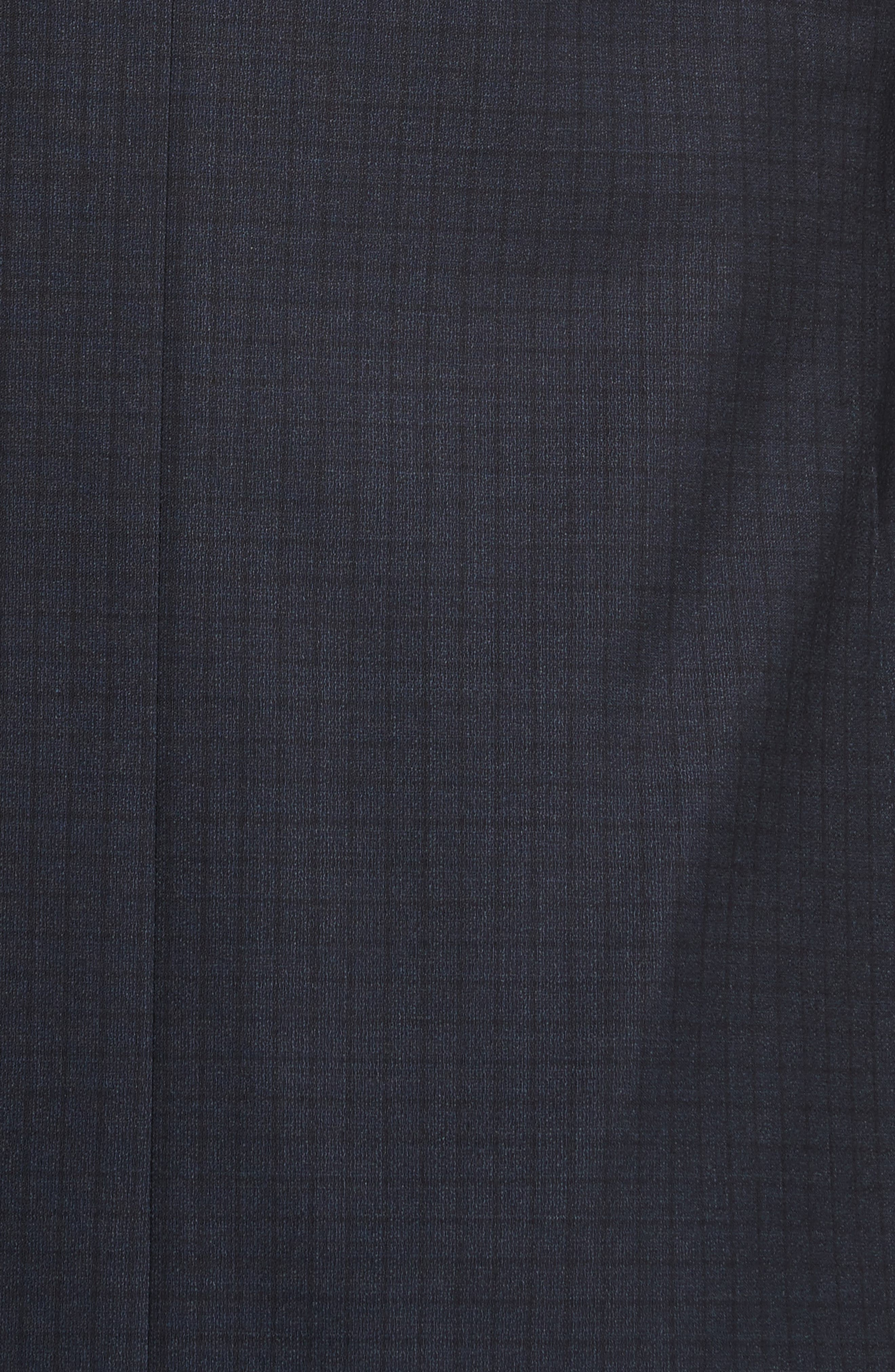 Classic Fit Check Wool Suit,                             Alternate thumbnail 7, color,                             Navy
