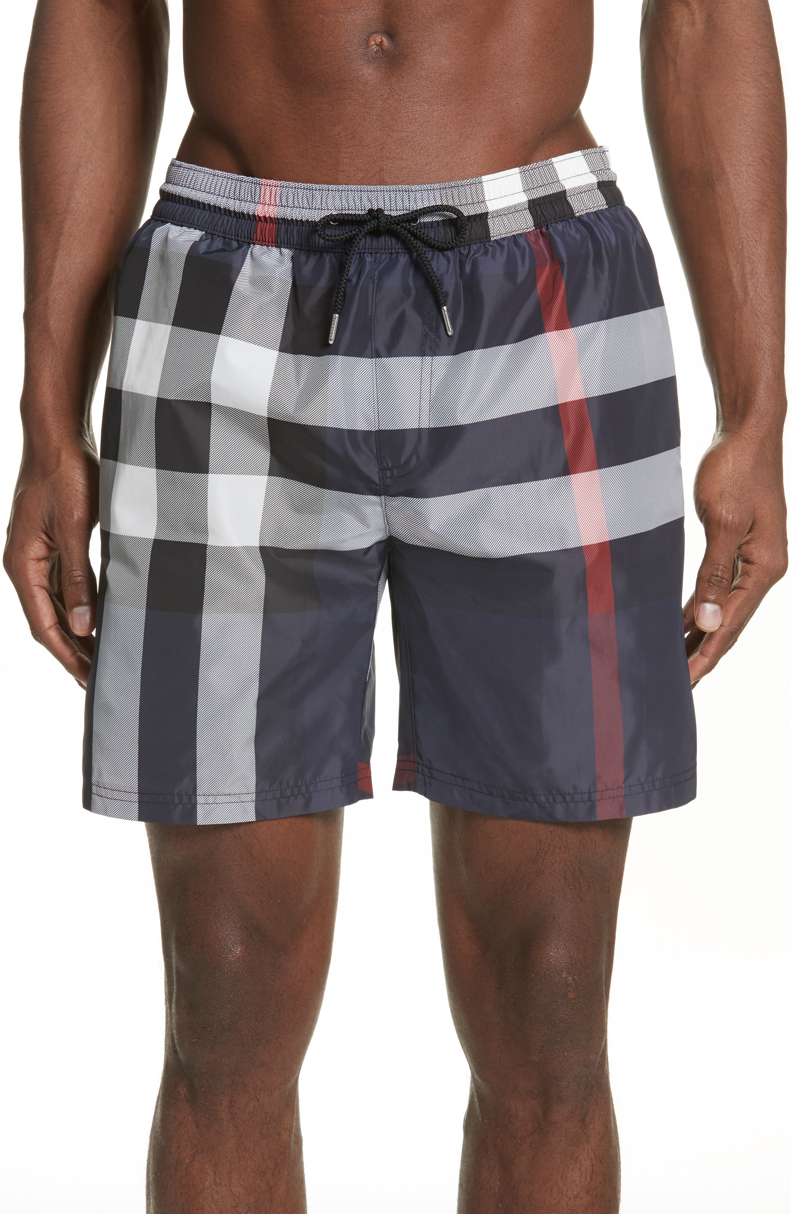 Alternate Image 1 Selected - Burberry Guildes Check Swim Trunks
